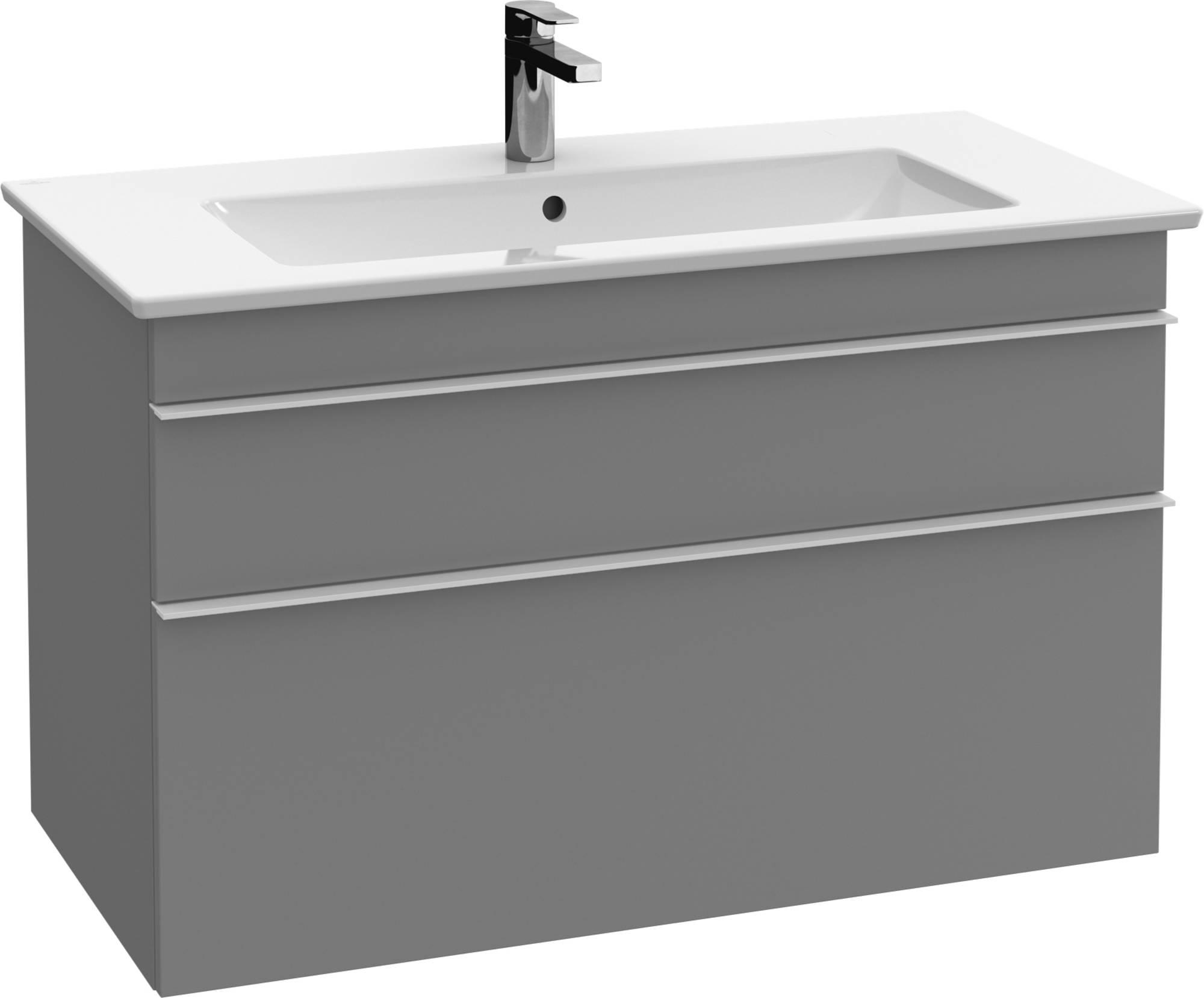 Villeroy&Boch Venticello Wastafelonderkast 95,3x50,2x59  cm Glossy Grey