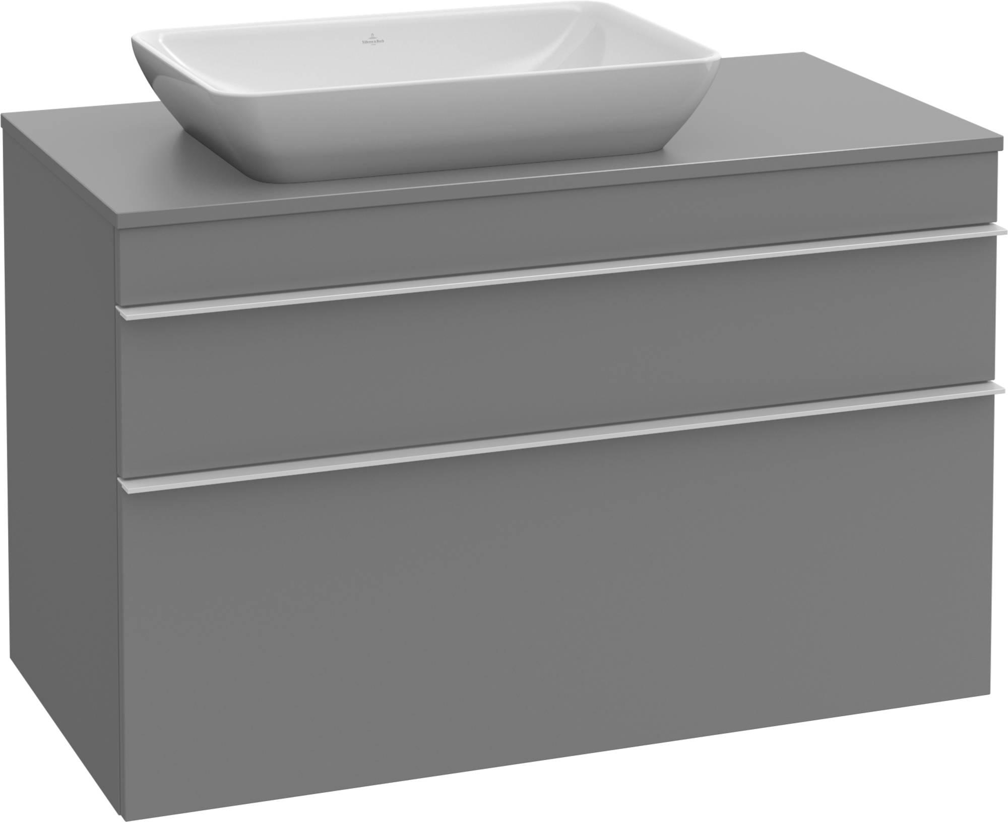 Villeroy&Boch Venticello Wastafelonderkast 95,7x50,2x60,6  cm  Glossy Grey