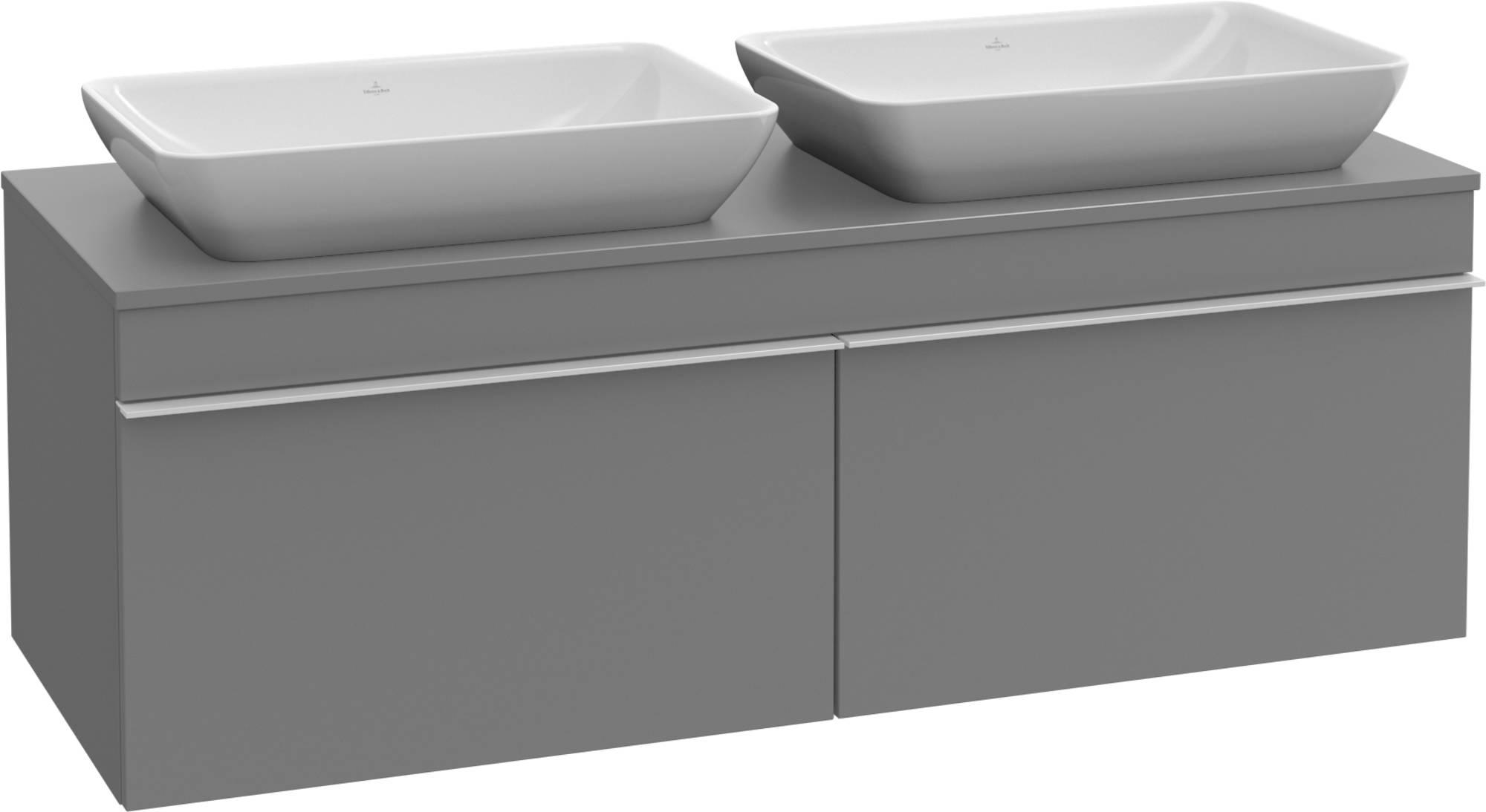Villeroy&Boch Venticello Wastafelonderkast 125,7x50,2x43,6  cm Glossy Grey