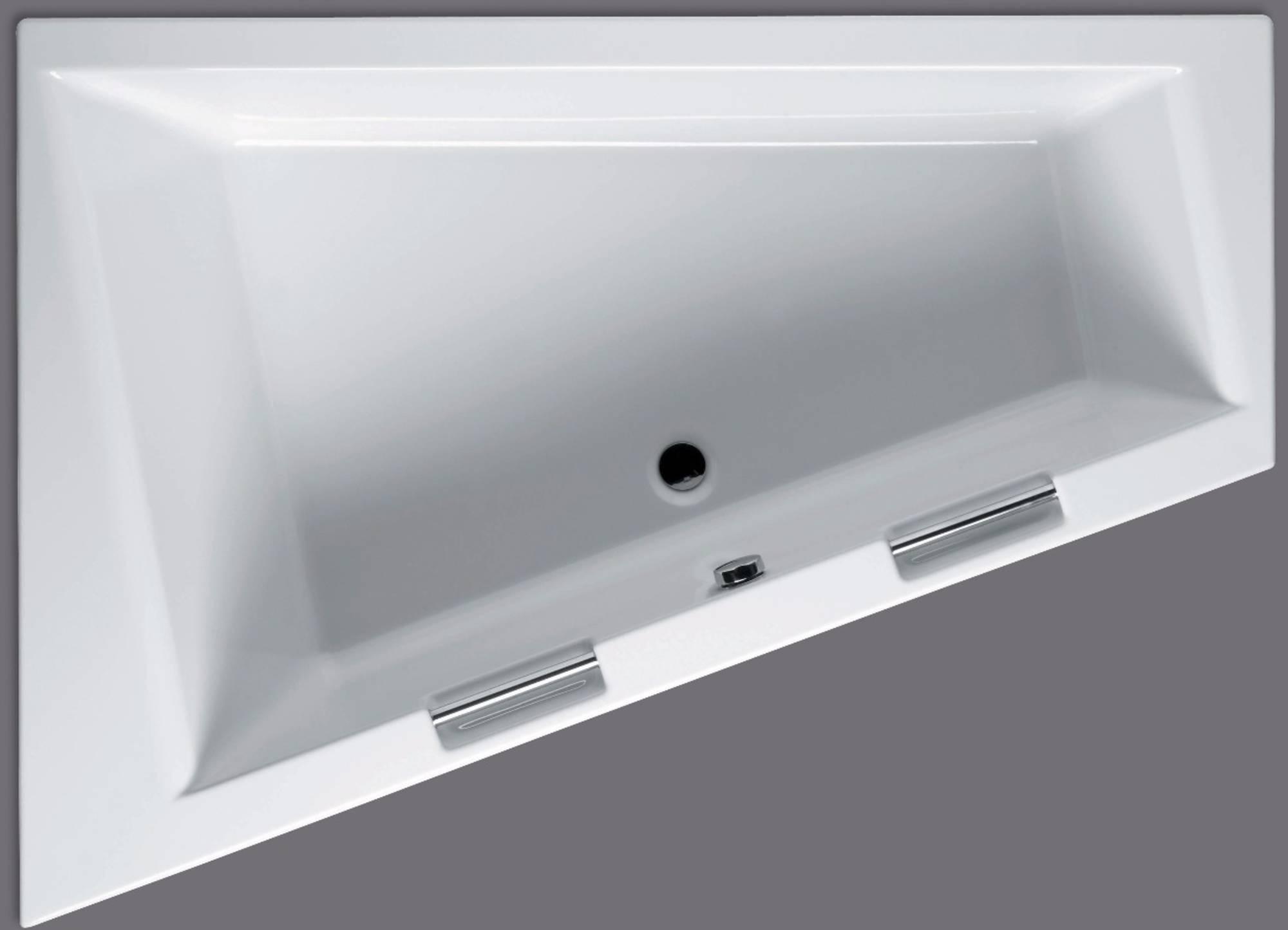 RIHO Doppio Bad Acryl 180x130 cm Wit