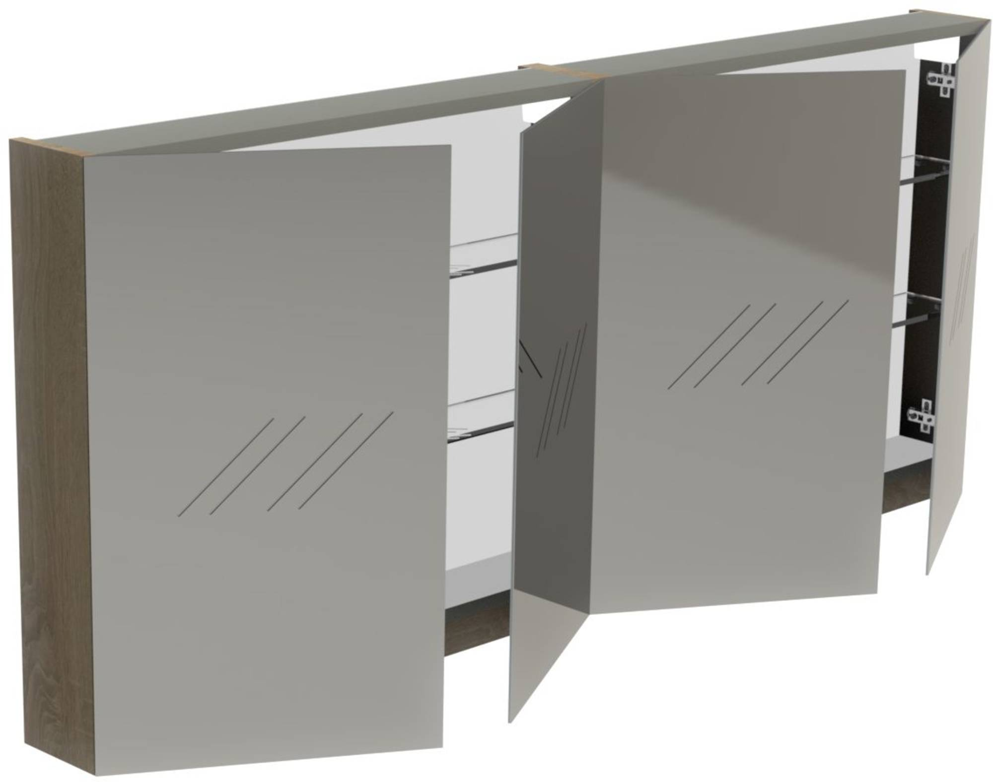 Thebalux Basic Spiegelkast 70x160x13,5 cm Zijdeglans Wit
