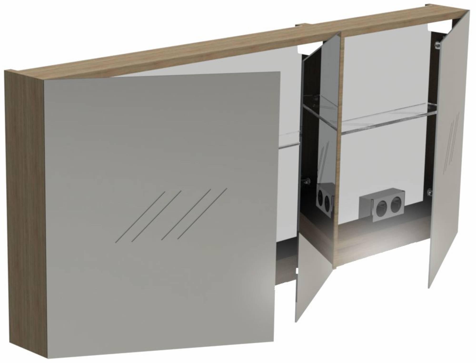 Thebalux Basic Spiegelkast 60x140x13,5 cm Zijdeglans Zwart