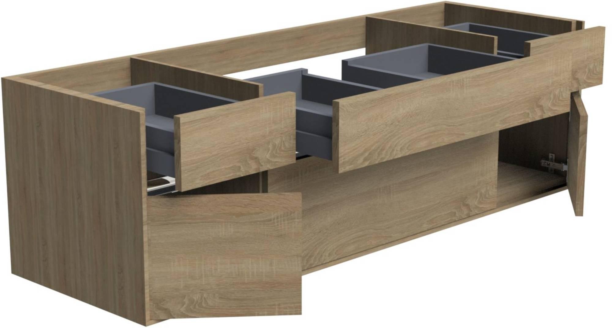 Thebalux Beat 20 Wastafelonderkast 140x45x50 cm Authentic Oak