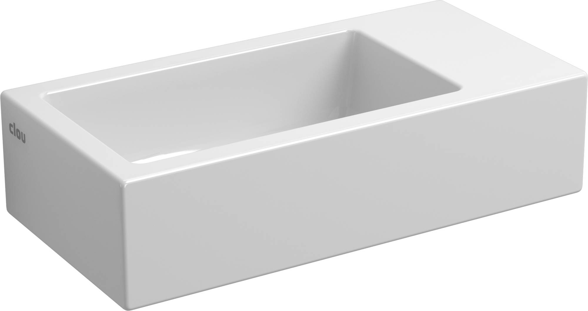 Clou Flush fontein (flush 3) zonder kraangat rechts met plug wit keramiek