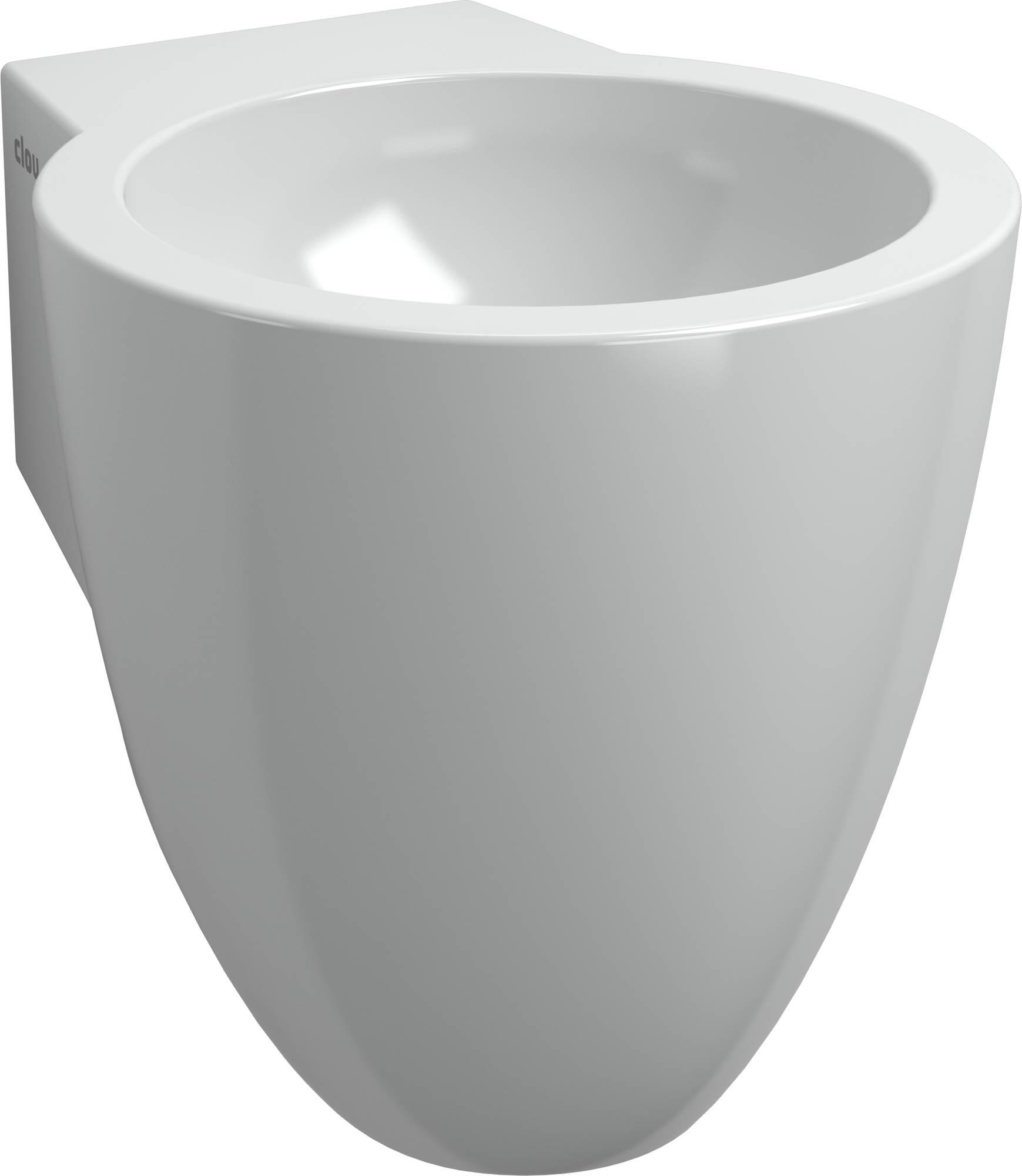 Clou Flush fontein (flush 6) zonder kraangat met plug en bekersifon wit keramiek