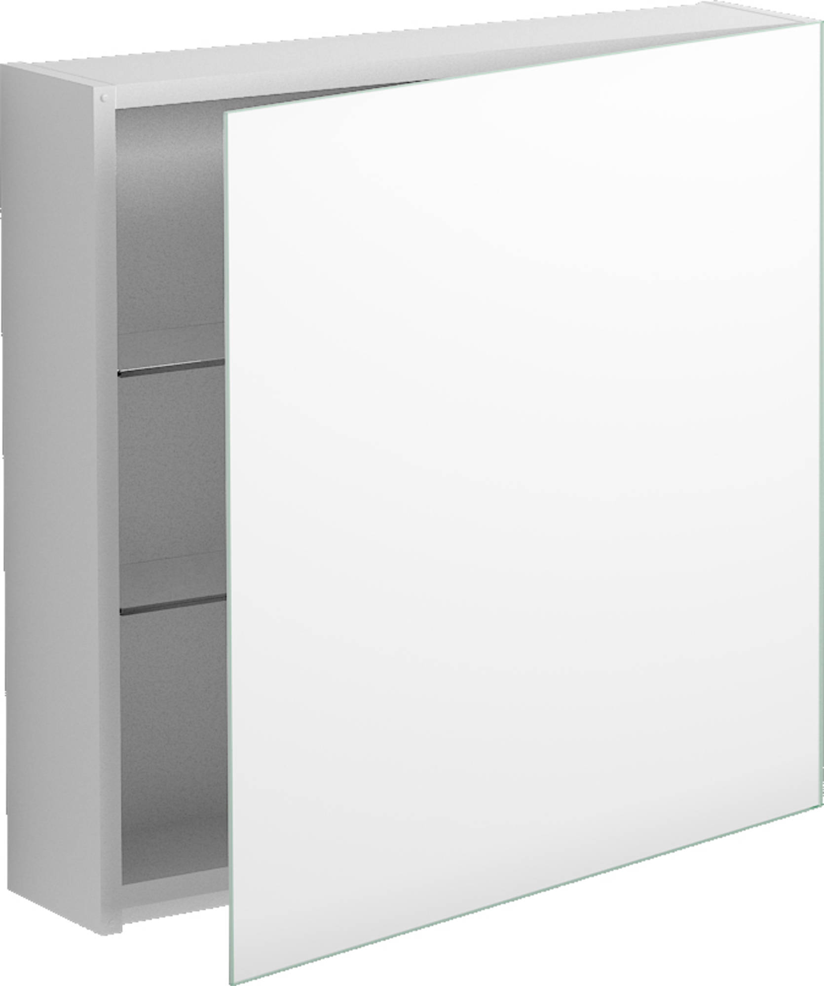 Clou Match Me Spiegelkast 70x16,7x68 cm Wit Hoogglans Gelakt