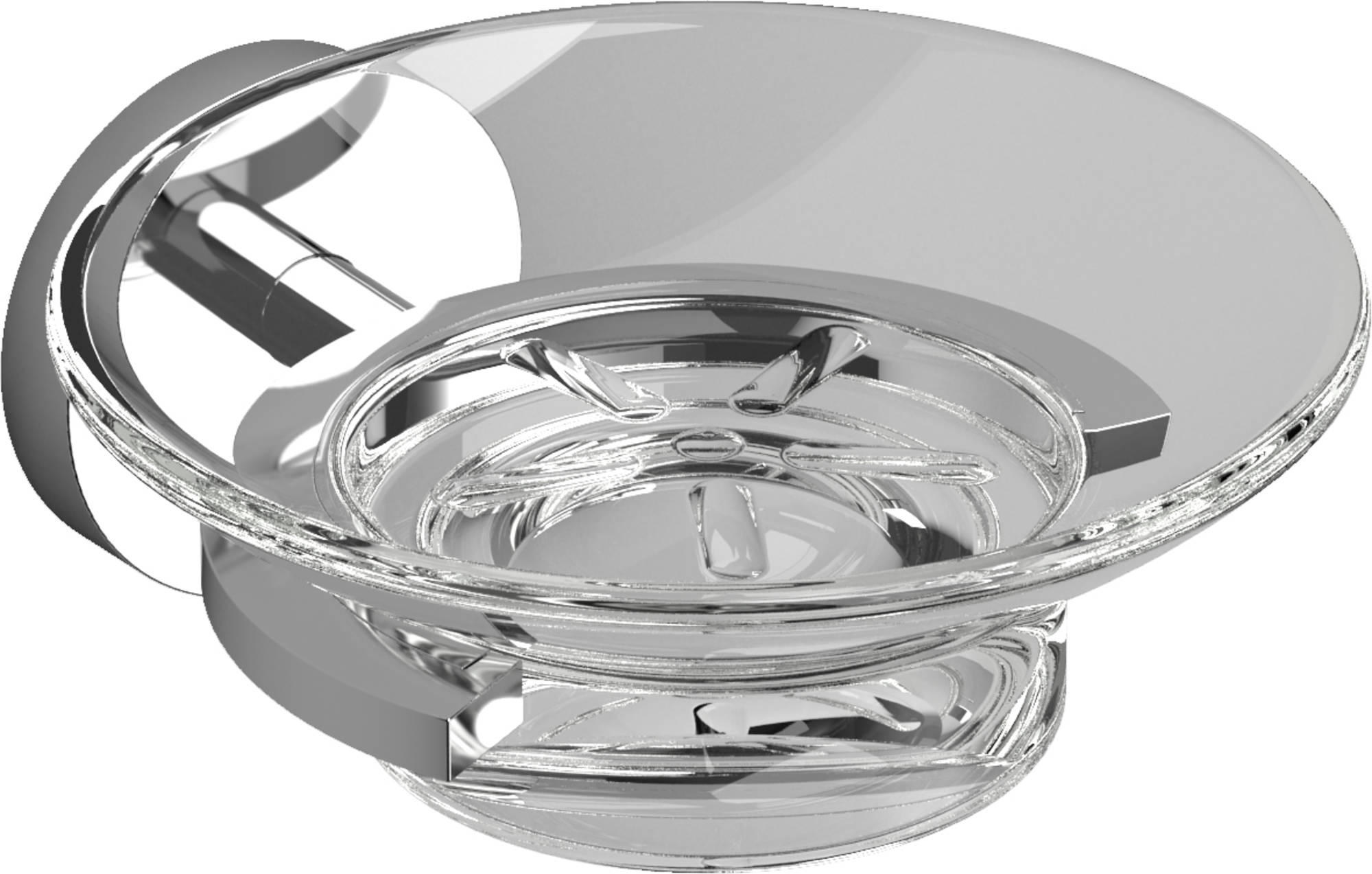 Clou Flat Zeepschaal 11x12,5x5 cm Helder Glas/Chroom