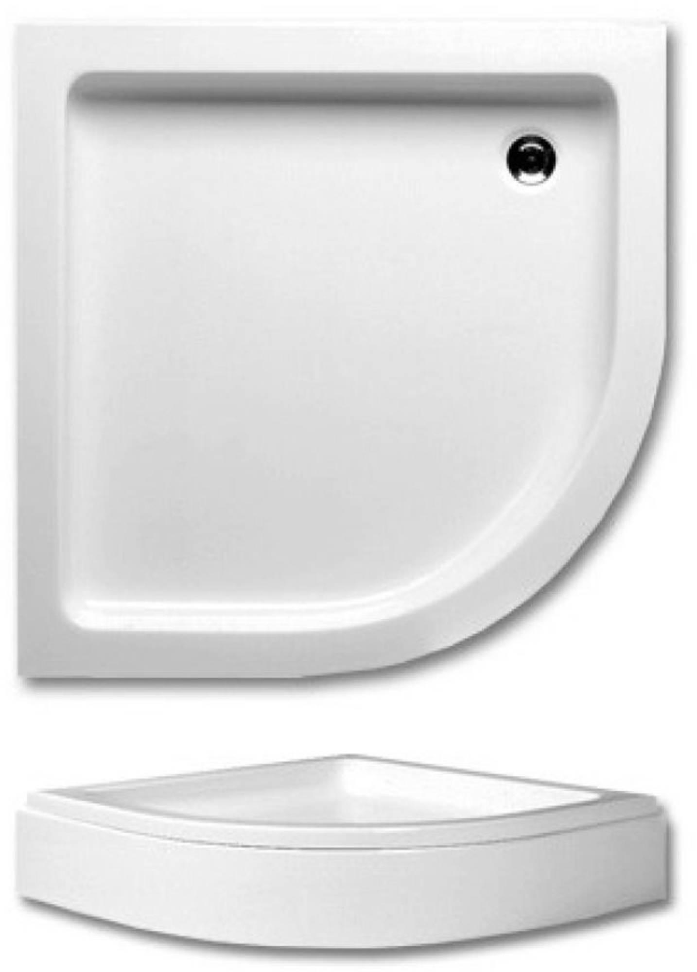 RIHO Elm 210 douchebak 90x90x21cm R55 wit met paneel