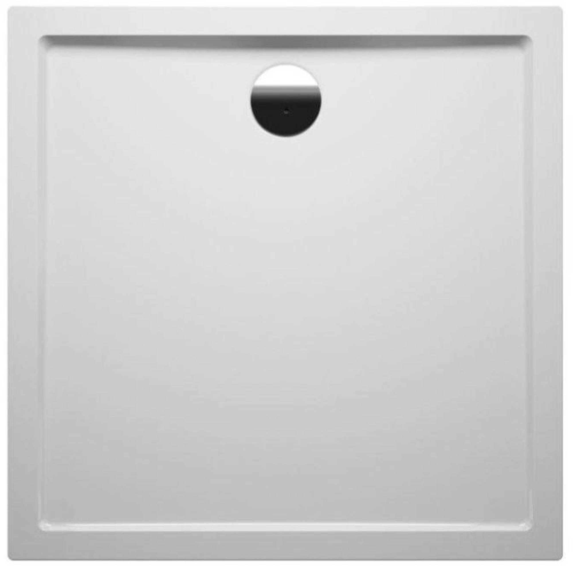 RIHO Davos 251 douchebak 90x90x14cm met paneel wit