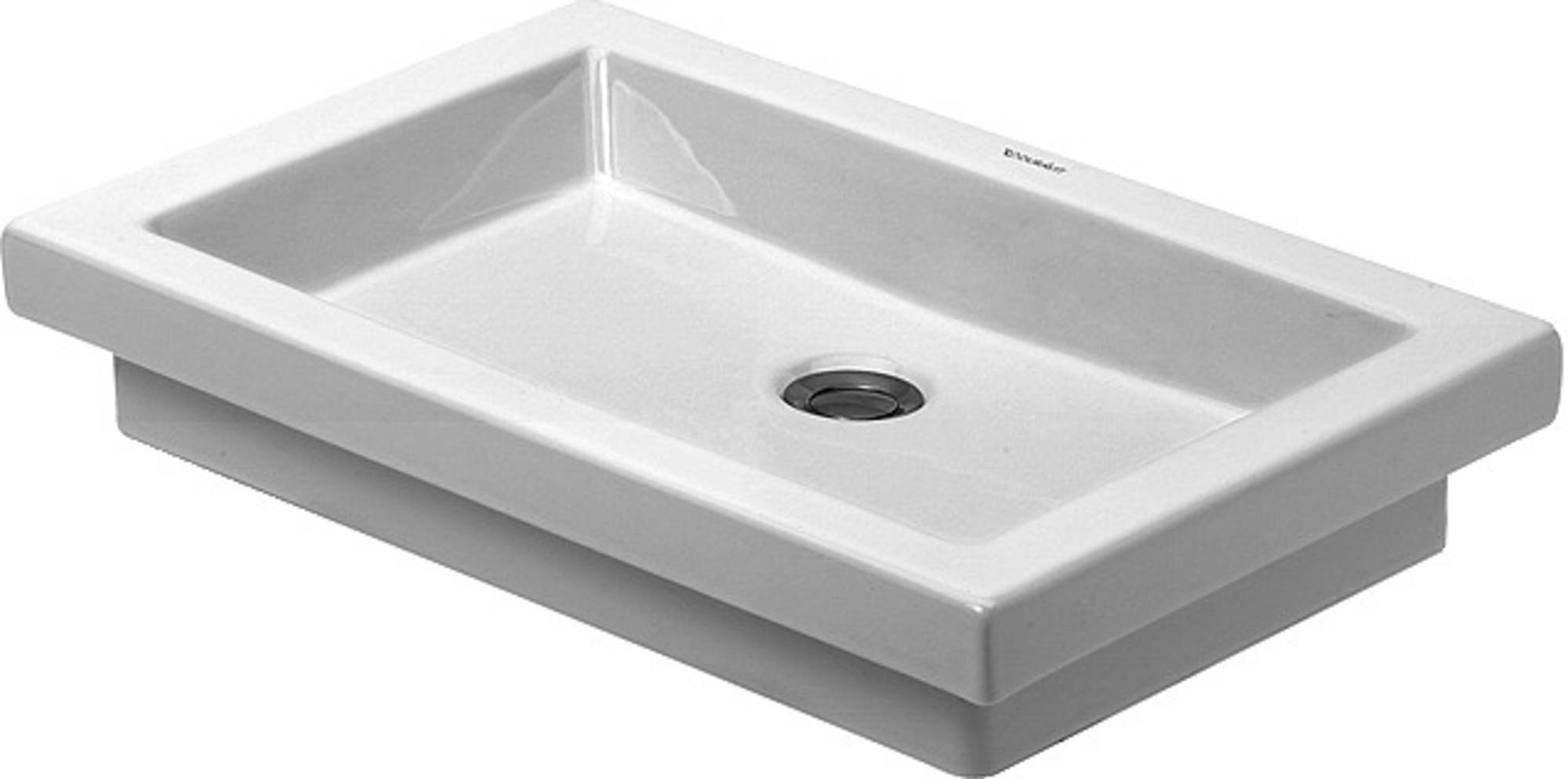 Duravit 2nd floor opzet wastafel 58x41,5 zonder overloop wonderglis, wit
