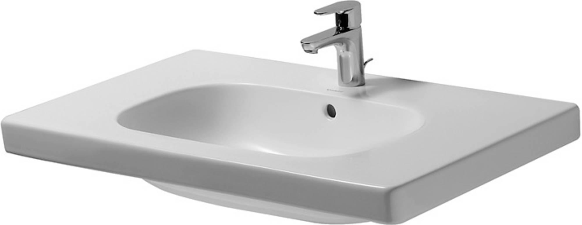 Duravit D-code meubelwastafel 85x48 cm, 1x kr.gat m-overloop, wit