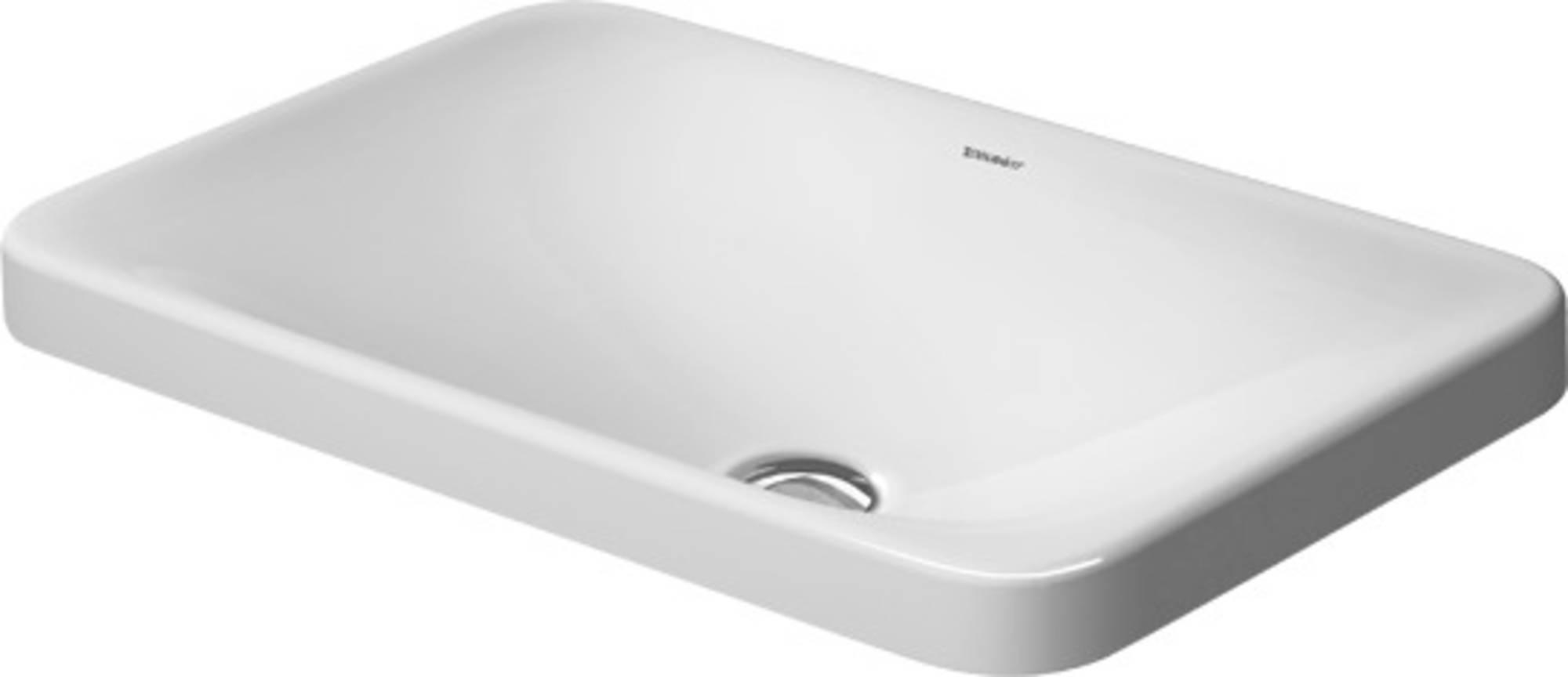 Duravit P3 Comforts Inbouwwastafel 55cm wit