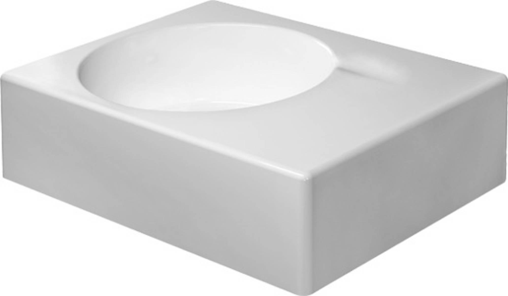 Duravit Scola wastafel 61,5x46 cm links m-wondergliss z-kr.gat, wit