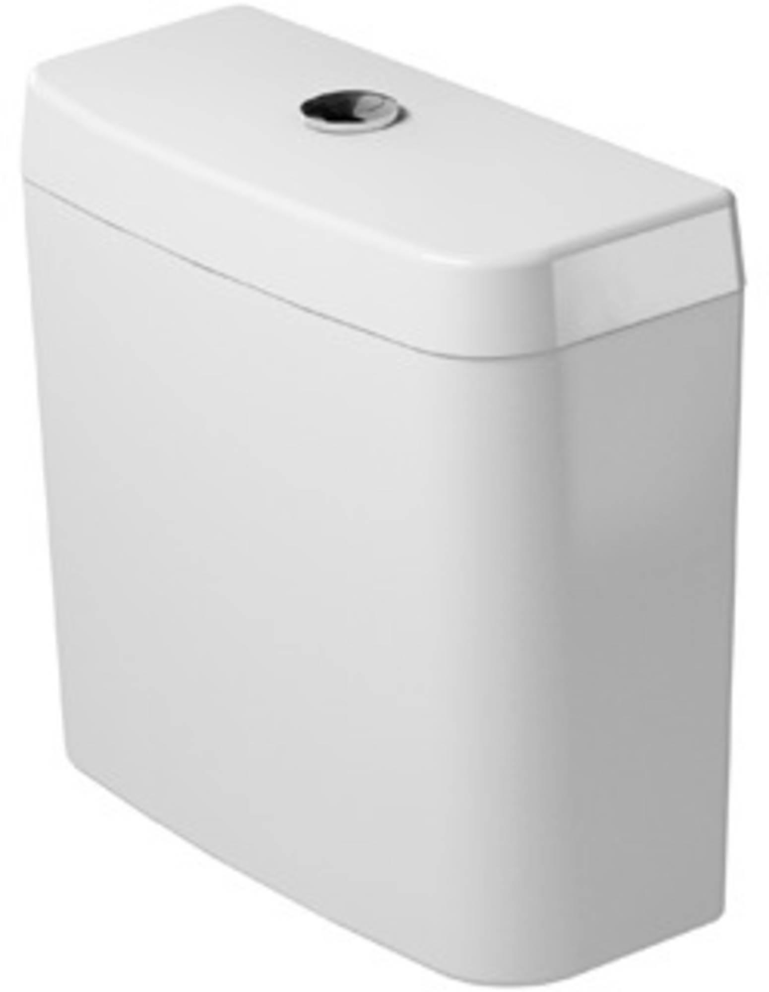 Duravit D-code reservoir dual flush, wit