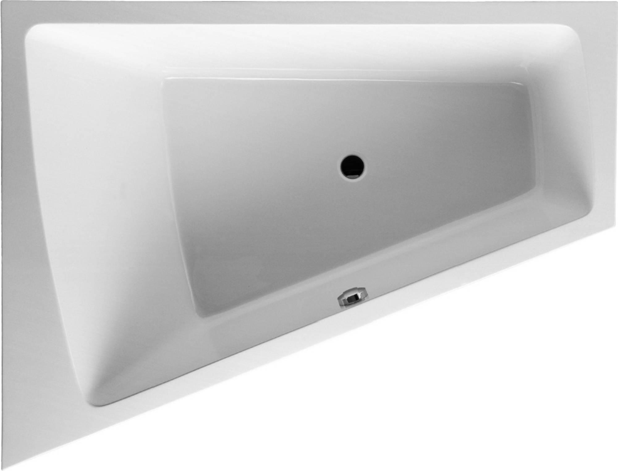 Duravit Paiova bad 180x140 cm, hoek links zonder poten, wit