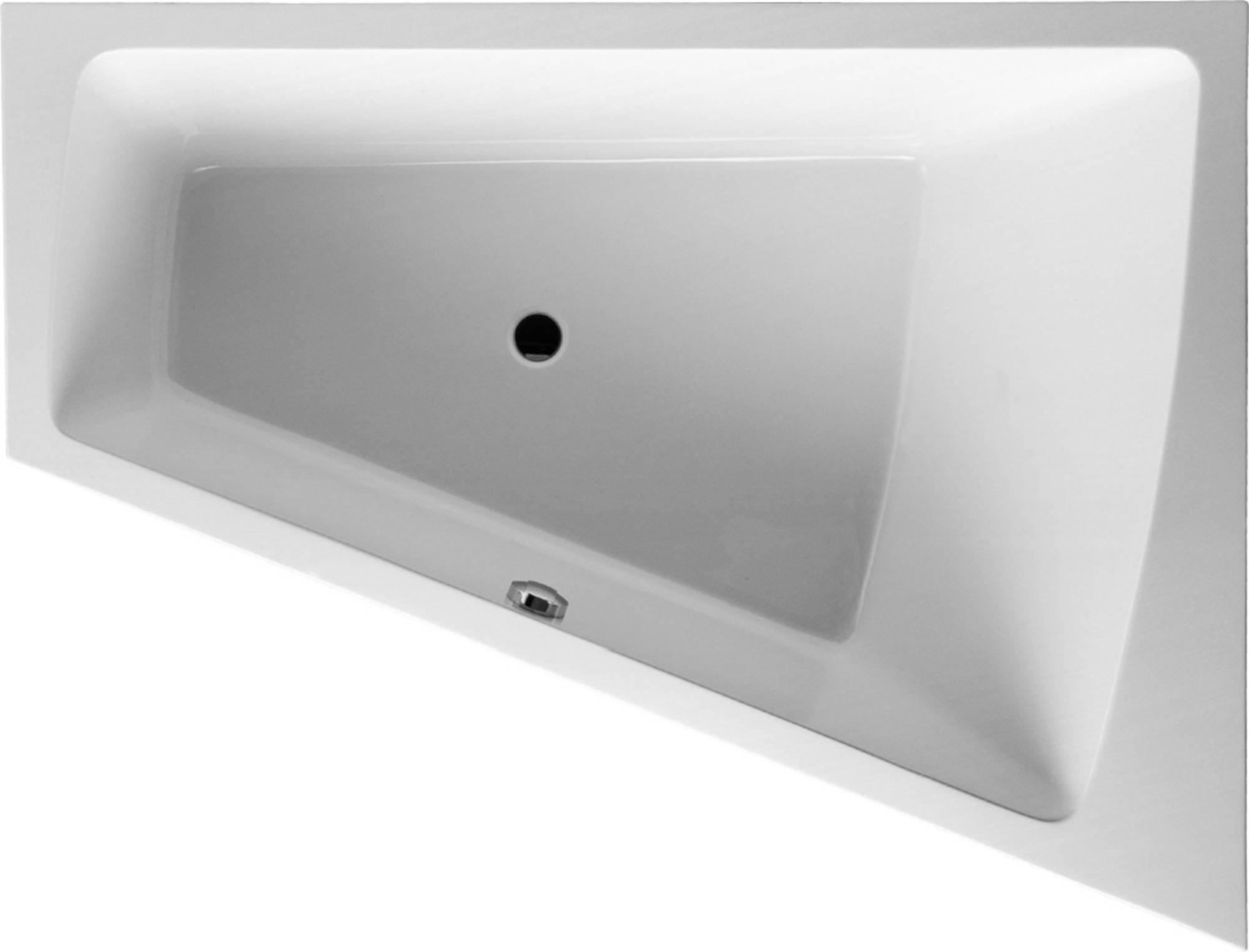 Duravit Paiova bad 180x140 cm, hoek rechts zonder poten, wit