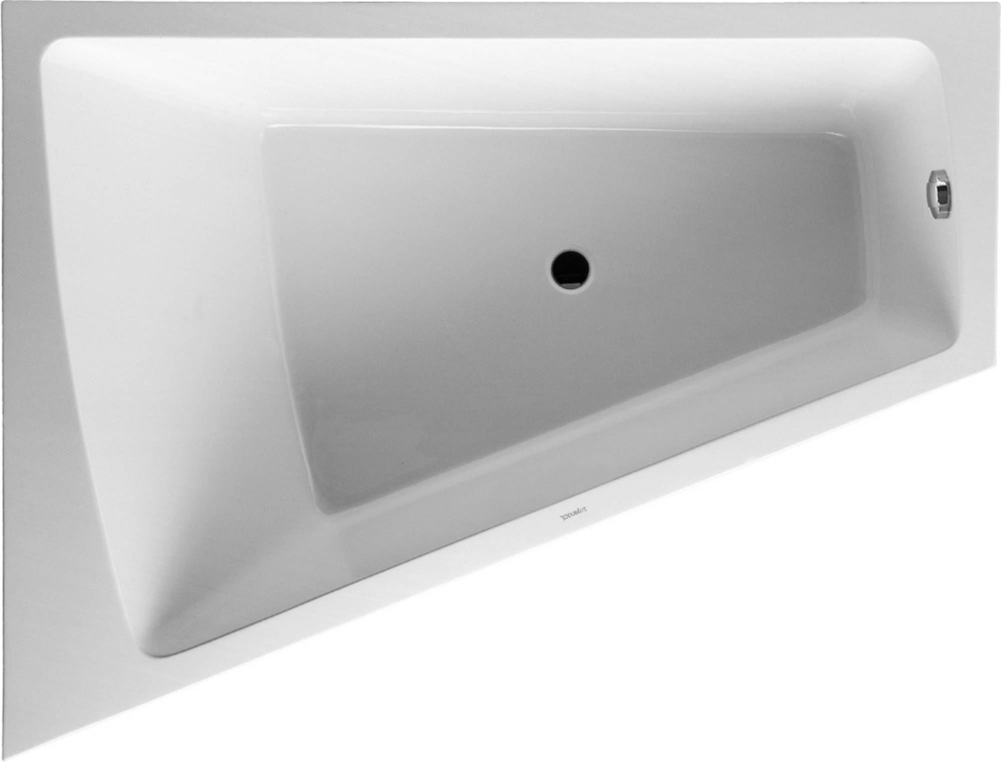 Duravit Paiova kunststof bad acryl afgeschuind links m. aangevormd paneel 180x140x46cm m. frame wit