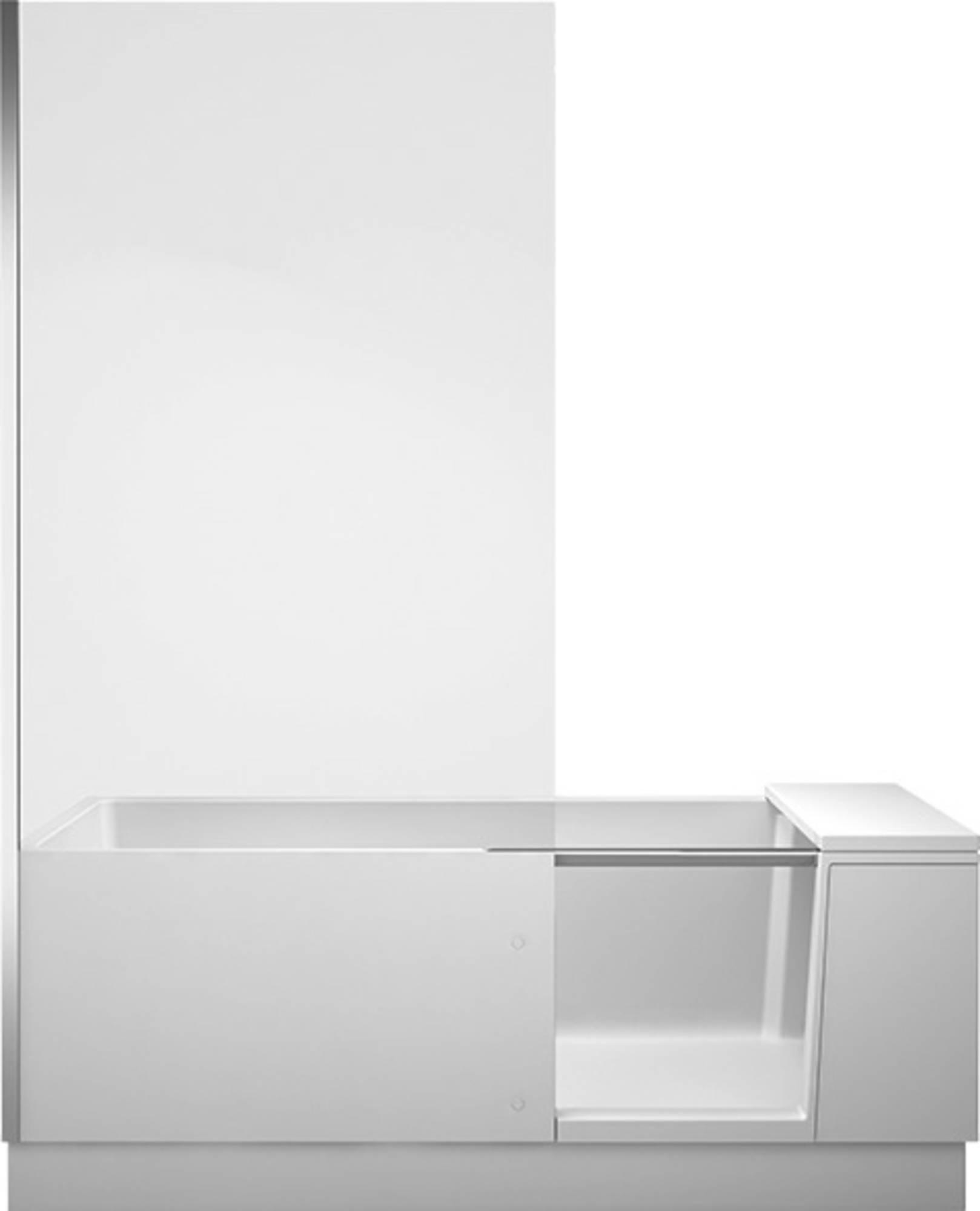Duravit Shower + Bath Bad met gemonteerde deur links 170x75 cm Wit helder glas