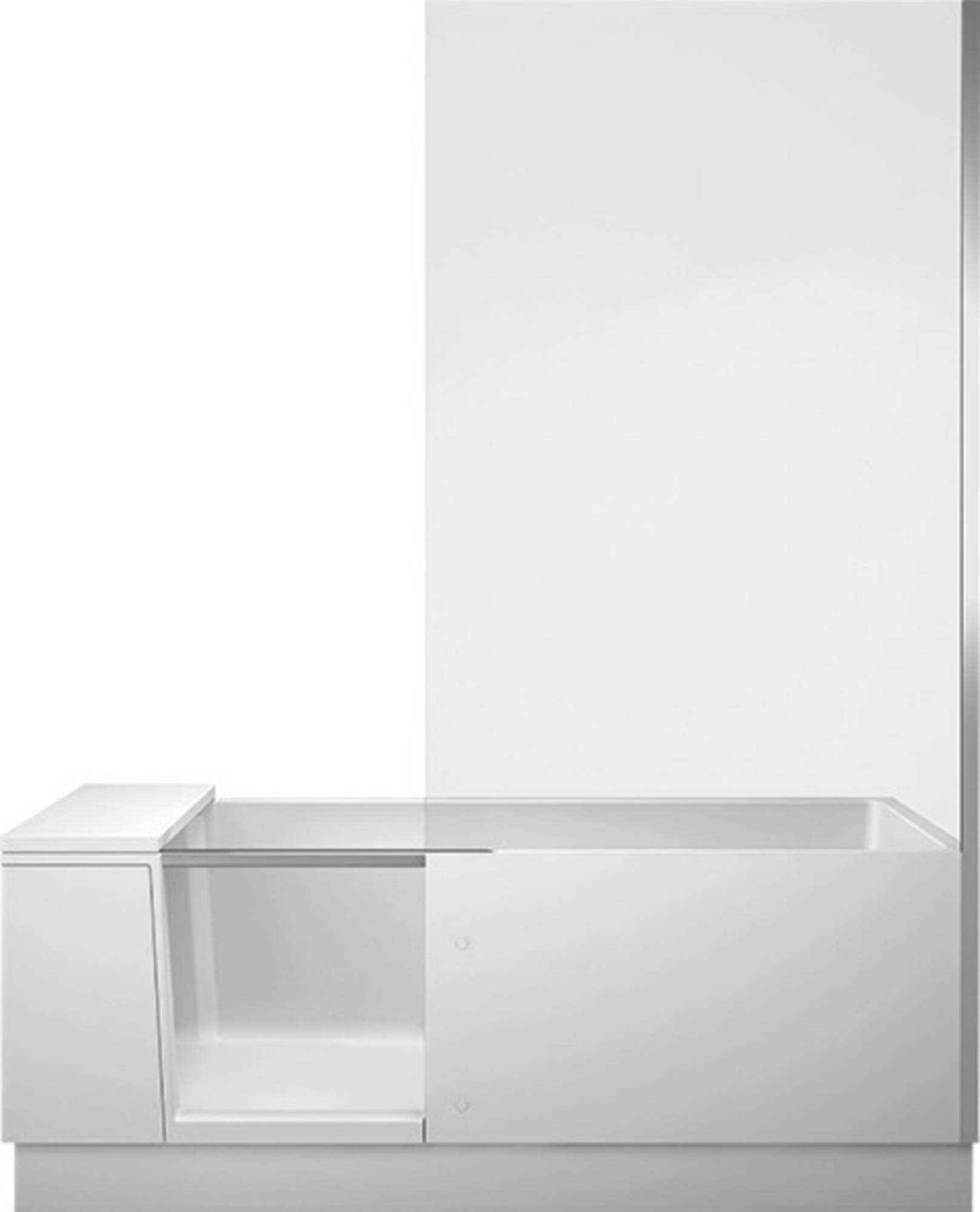 Duravit Shower + Bath Bad met gemonteerde deur rechts 170x75 cm Wit helder glas