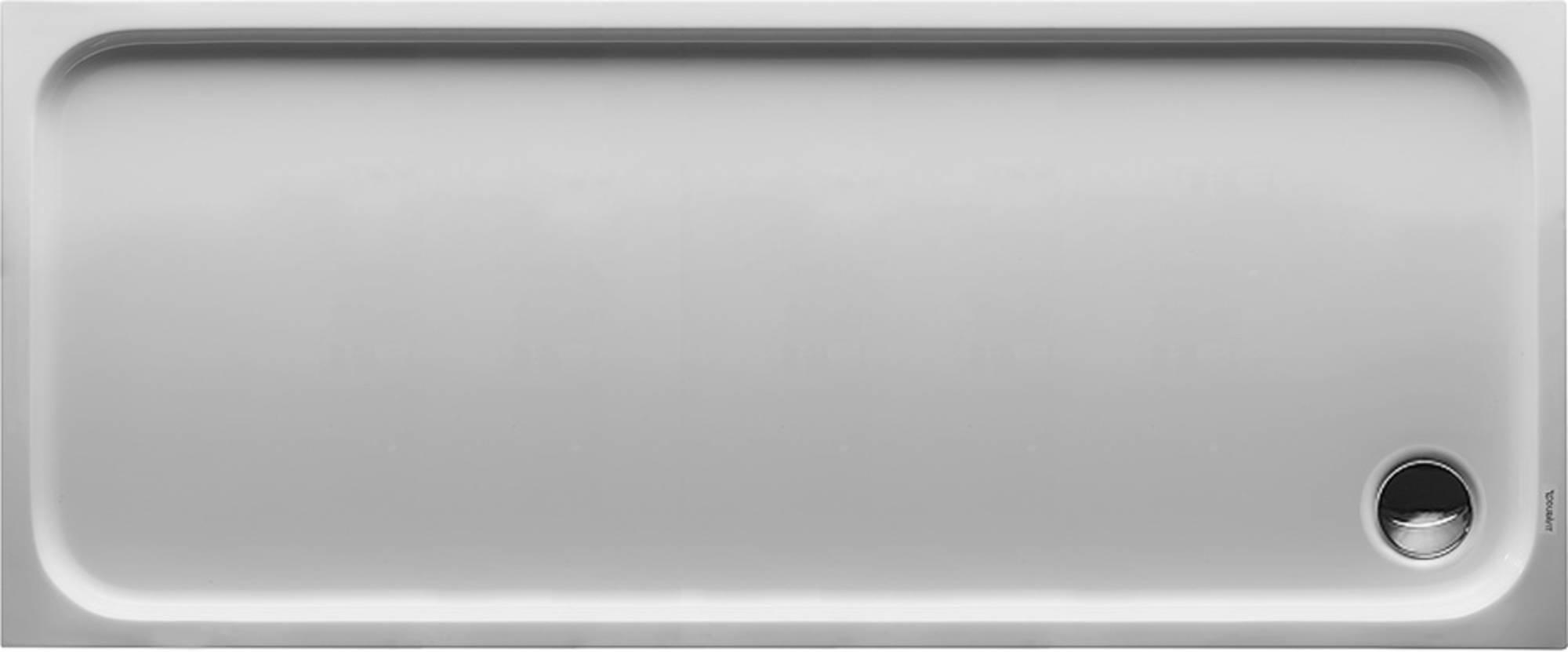 Duravit D-Code kunststof douchebak acryl rechthoekig z. paneel 170x70cm m. afvoergat Ø90mm wit