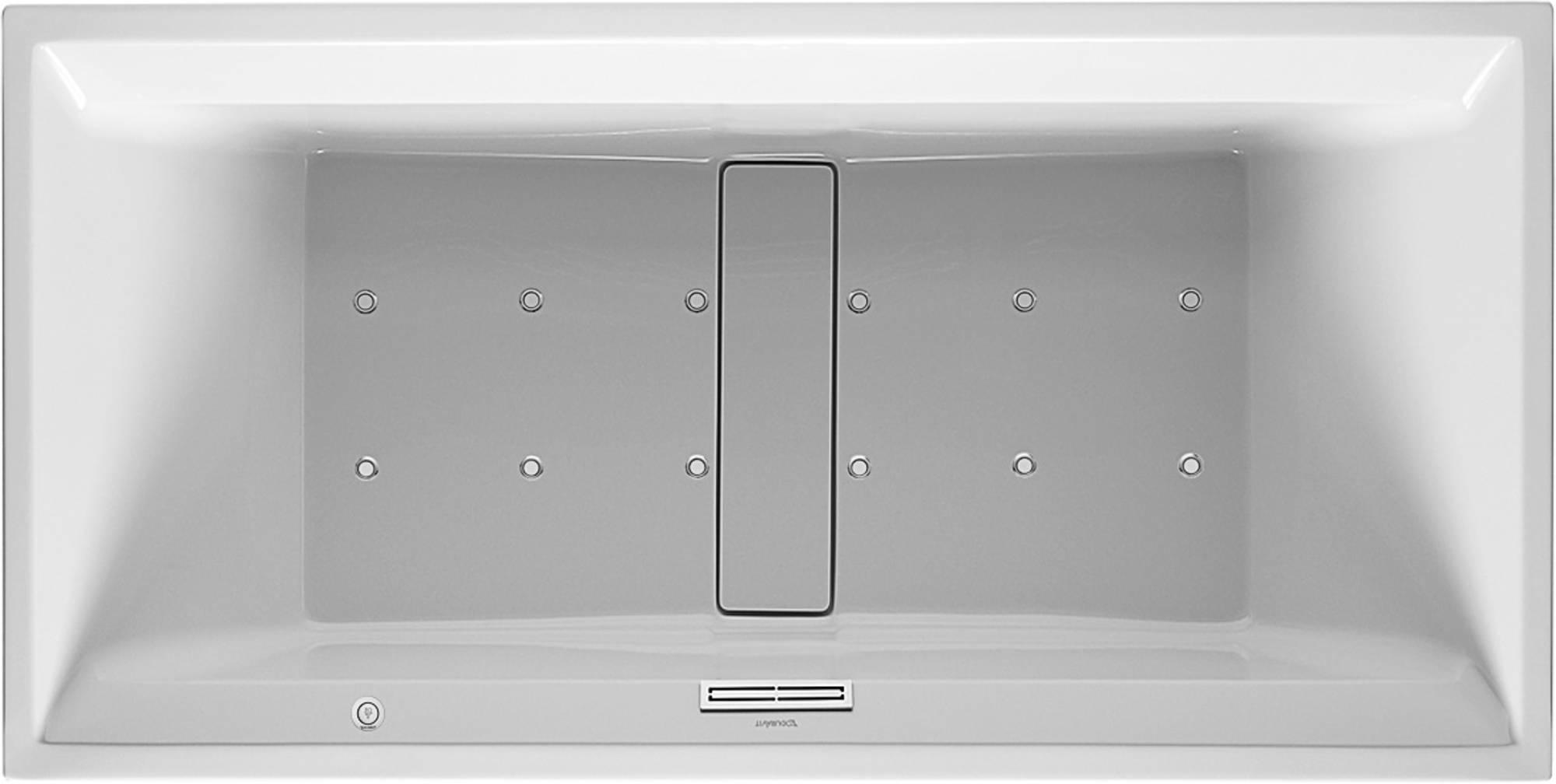 Duravit 2nd floor Systeembad 320 liter Acryl 200x100 cm Wit
