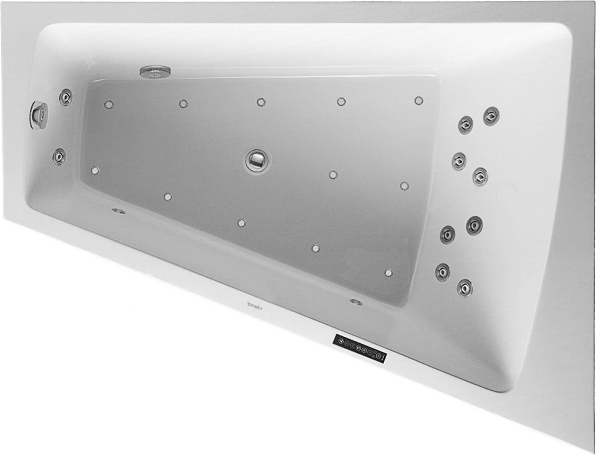 Duravit Paiova Systeembad 225 liter Acryl 170x130 cm Wit