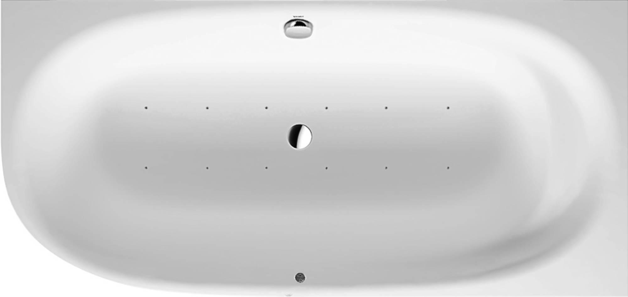 Duravit Cape Cod Systeembad 205 liter Durasolid 190x90 cm Wit