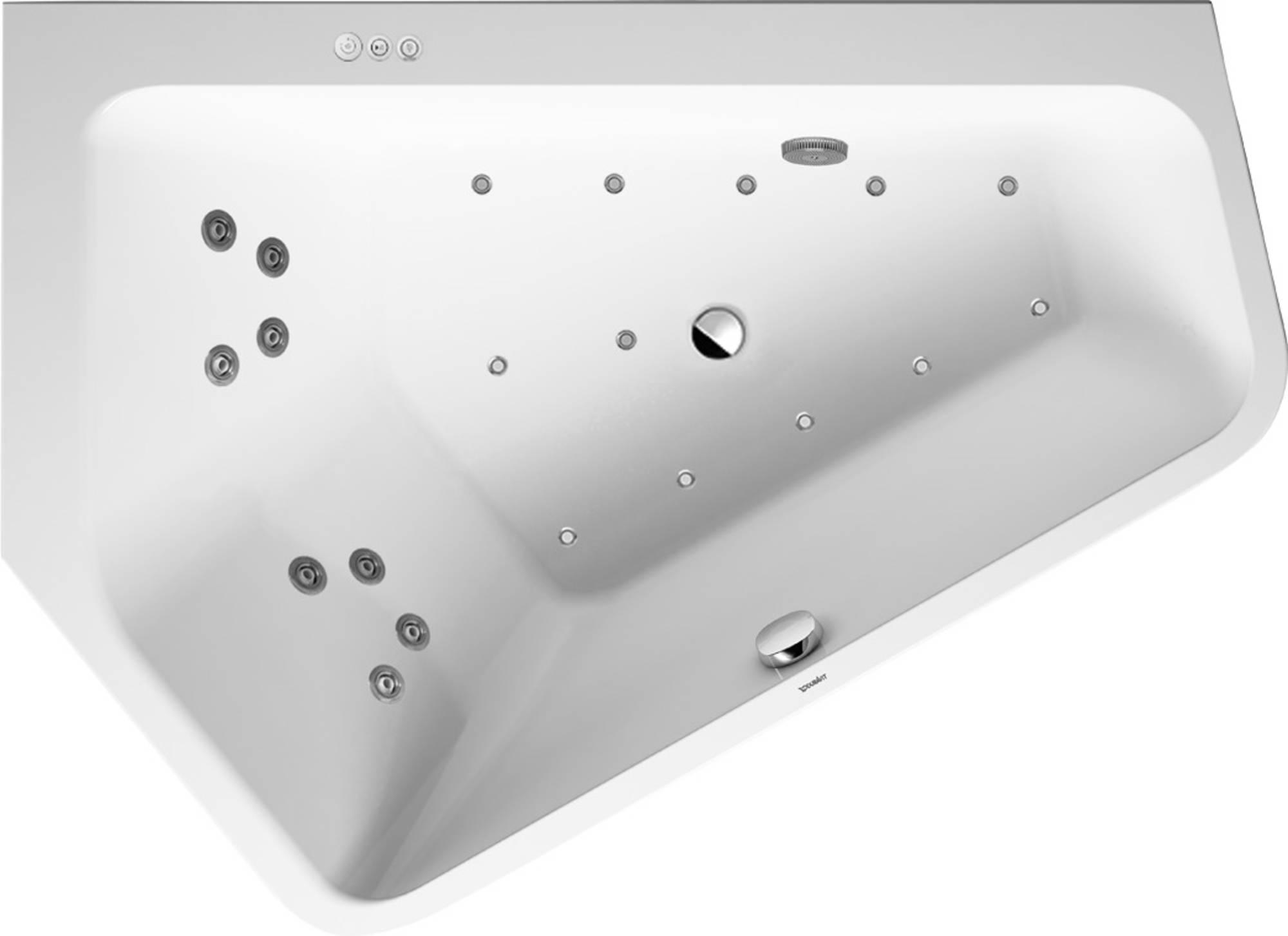 Duravit Paiova Systeembad 205 liter Acryl 177x130 cm Wit