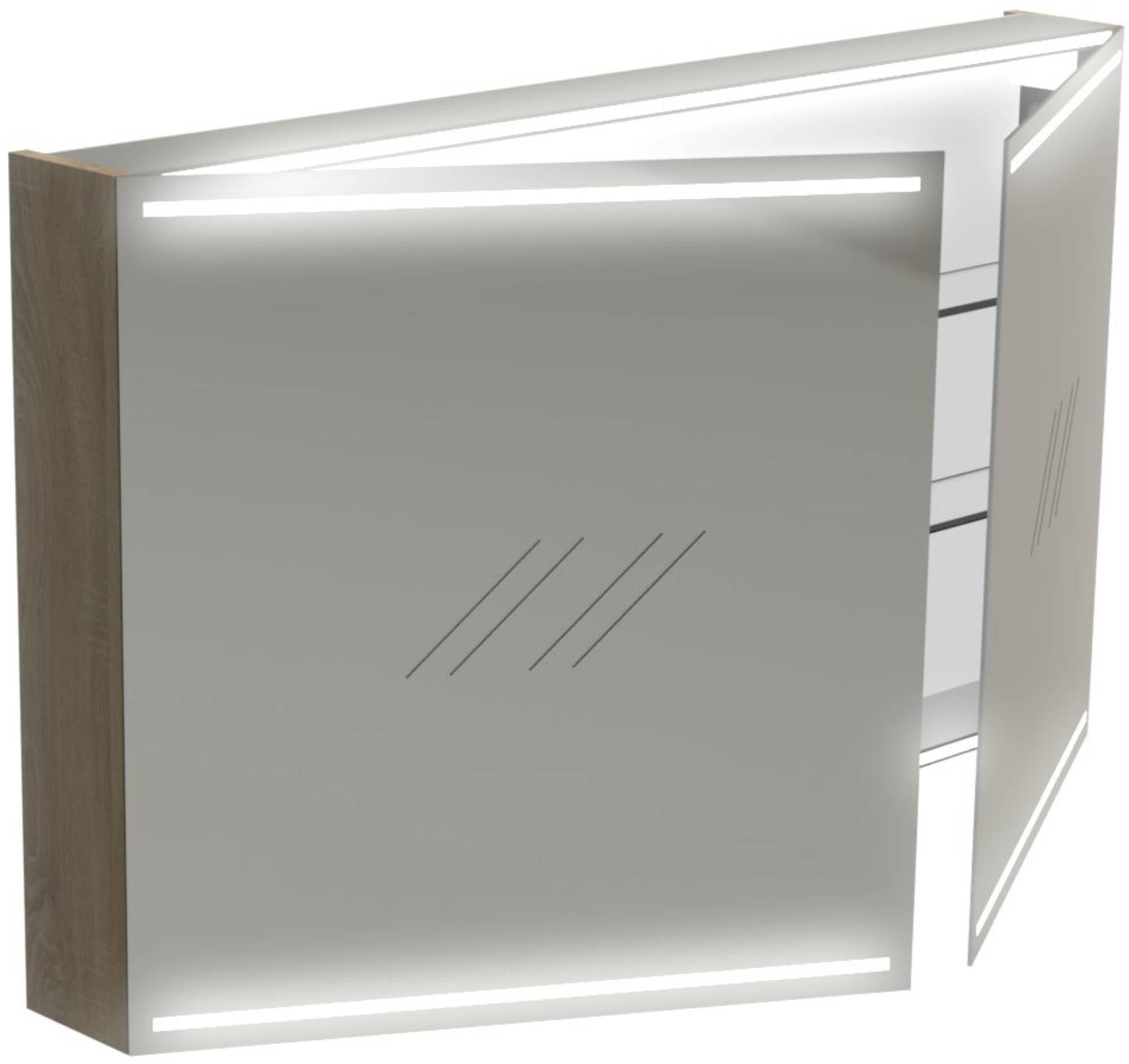 Thebalux Deluxe Spiegelkast 70x120x13,5 cm Zijdeglans Zwart