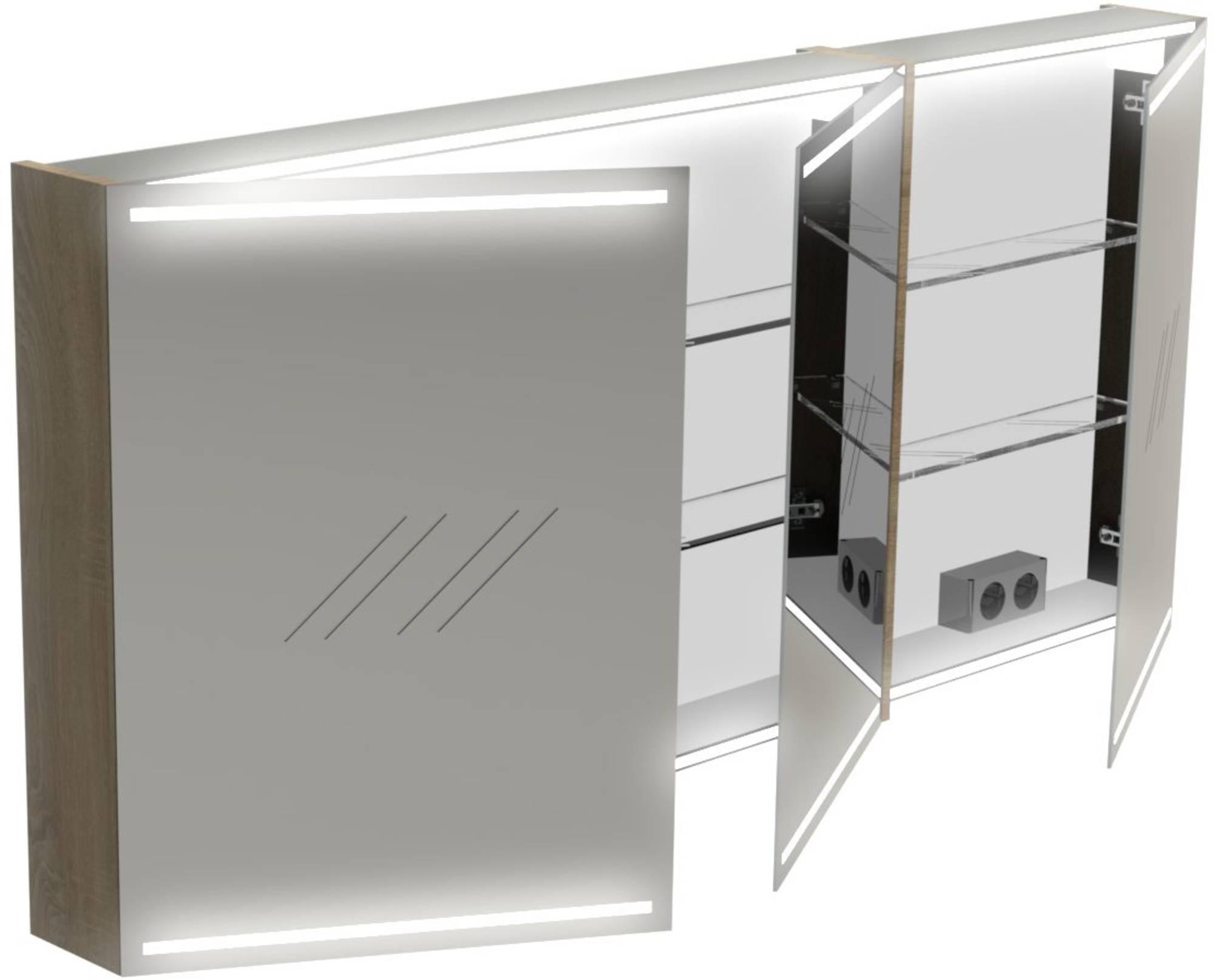 Thebalux Deluxe Spiegelkast 70x150x13,5 cm San Remo