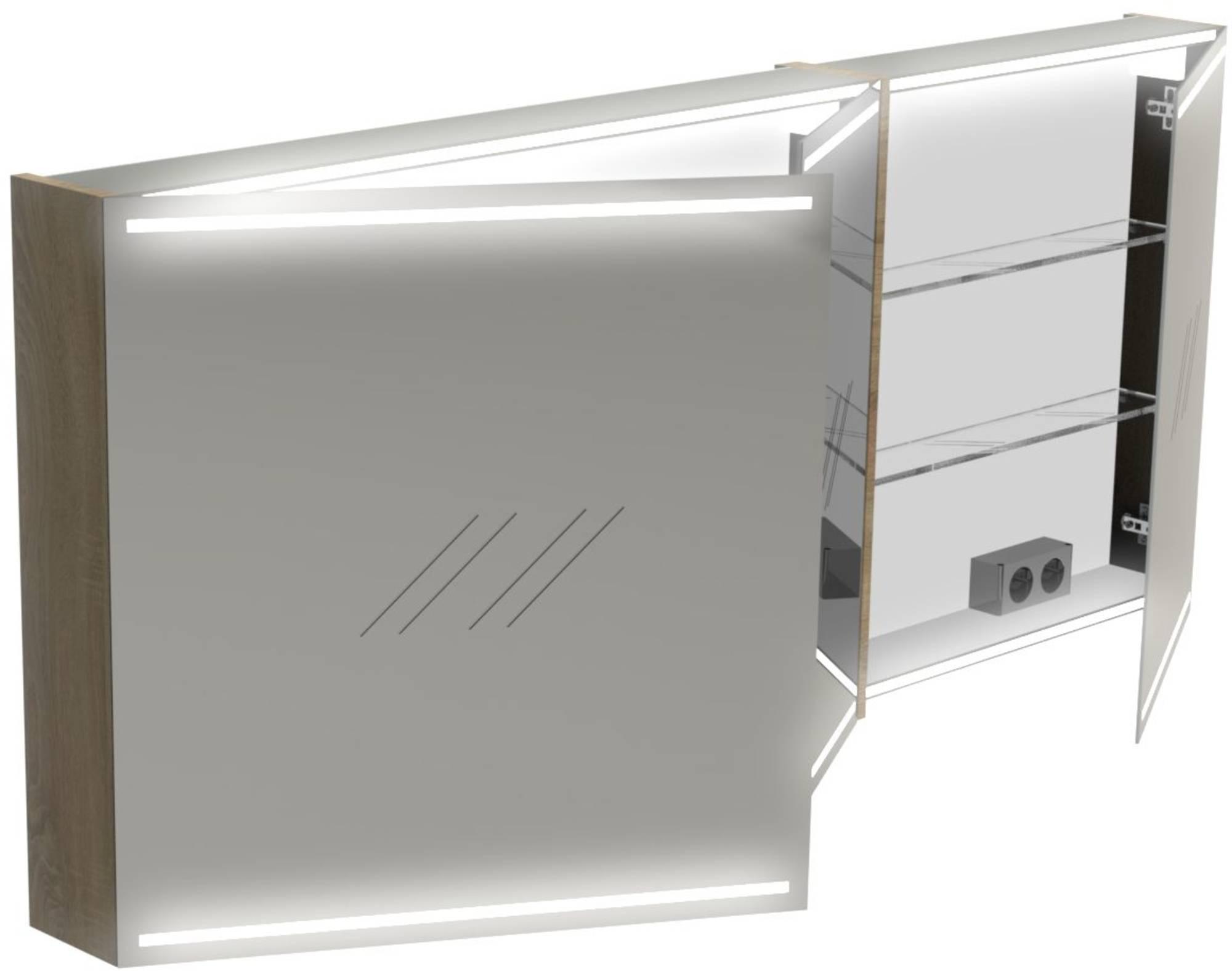 Thebalux Deluxe Spiegelkast 70x160x13,5 cm Mistral
