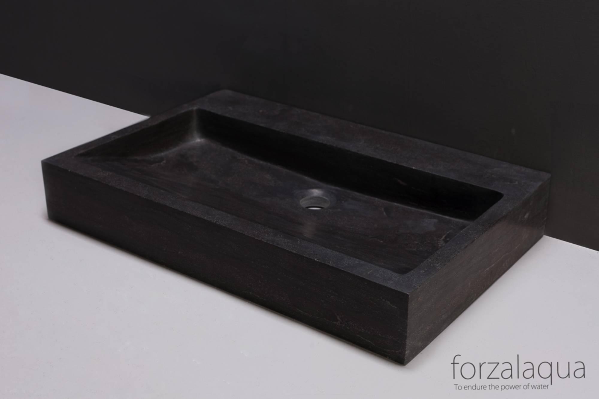 Forzalaqua Pelermo wastafel 80,5x51,5x9 cm hardsteen gezoet