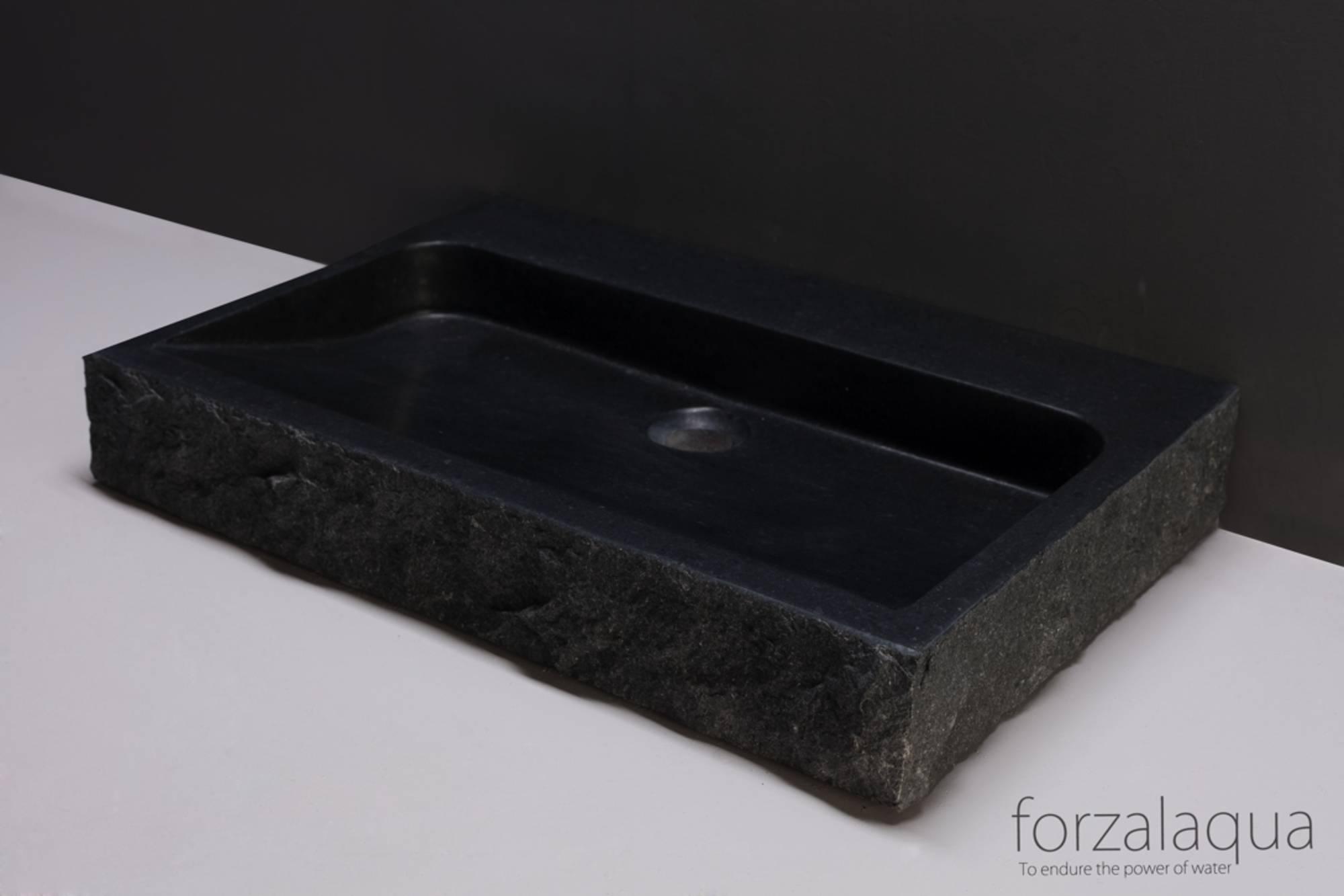 Forzalaqua Palermo wastafel 80,5x51,5x9 cm Graniet gekapt