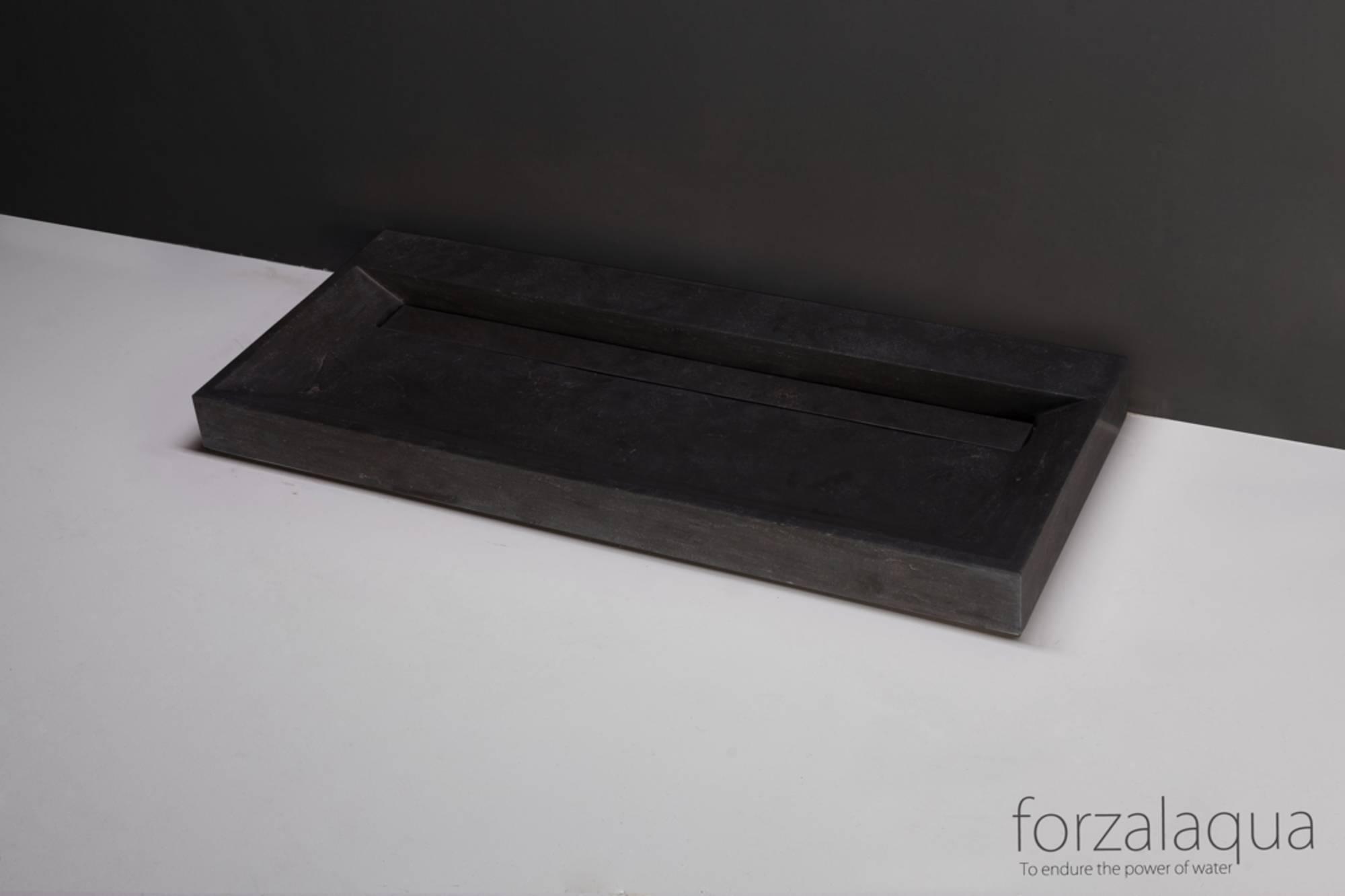 Forzalaqua Bellezza Wastafel 120,5x51,5x9 cm Hardsteen Gezoet
