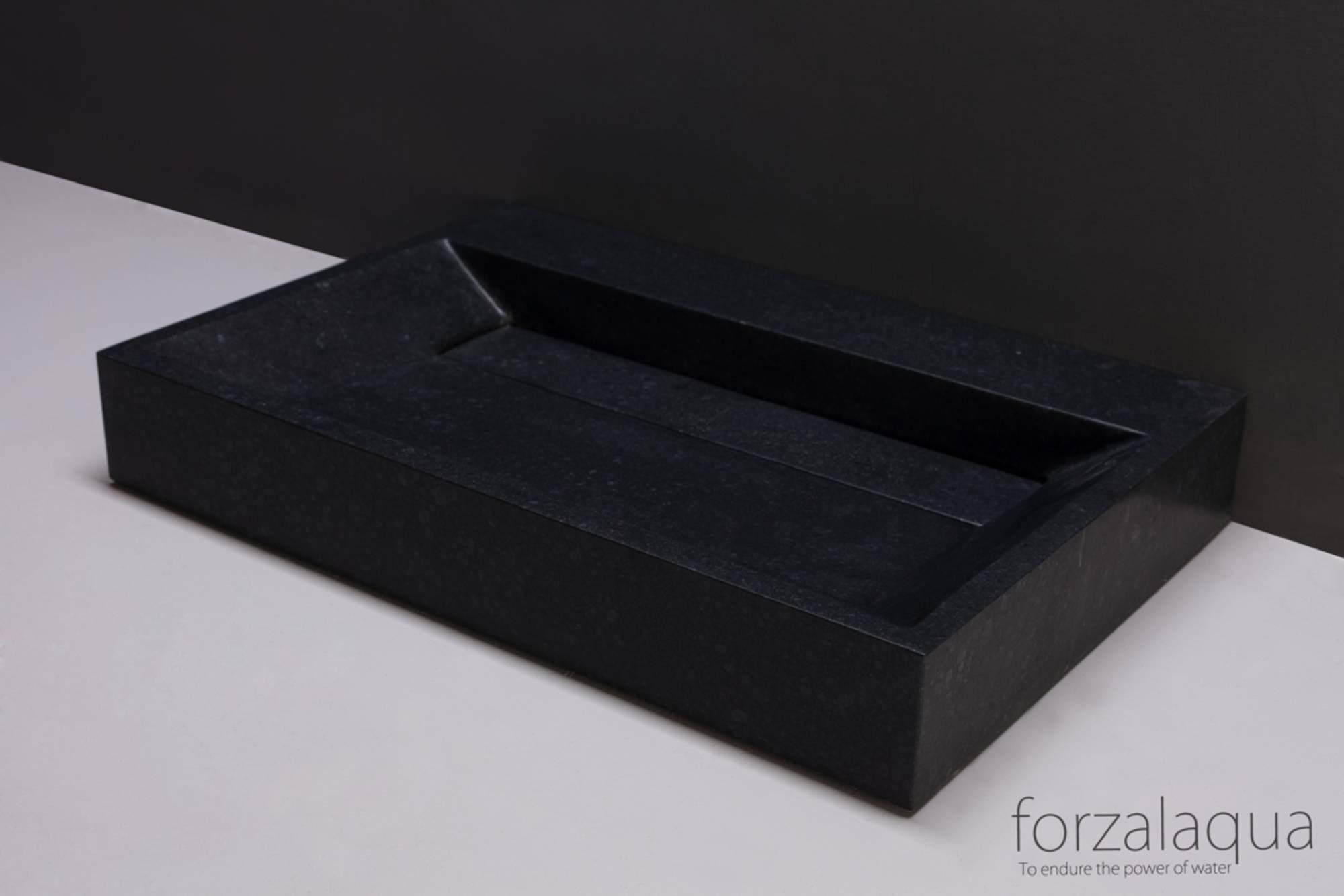 Forzalaqua Bellezza wastafel 80,5x51,5x9 cm Graniet gezoet
