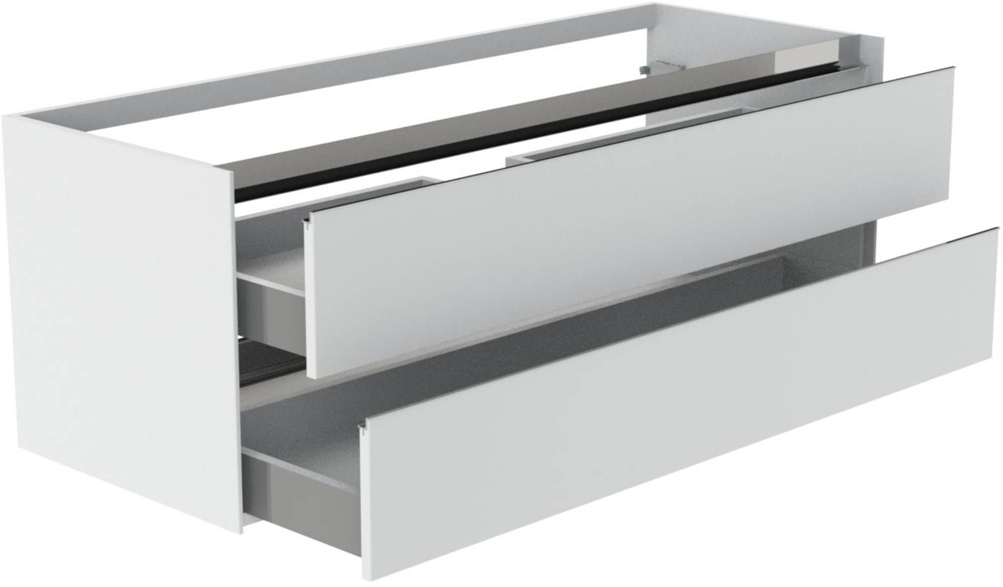 Thebalux Frozen Wastafelonderkast 140x51x50 cm Antraciet mat lak