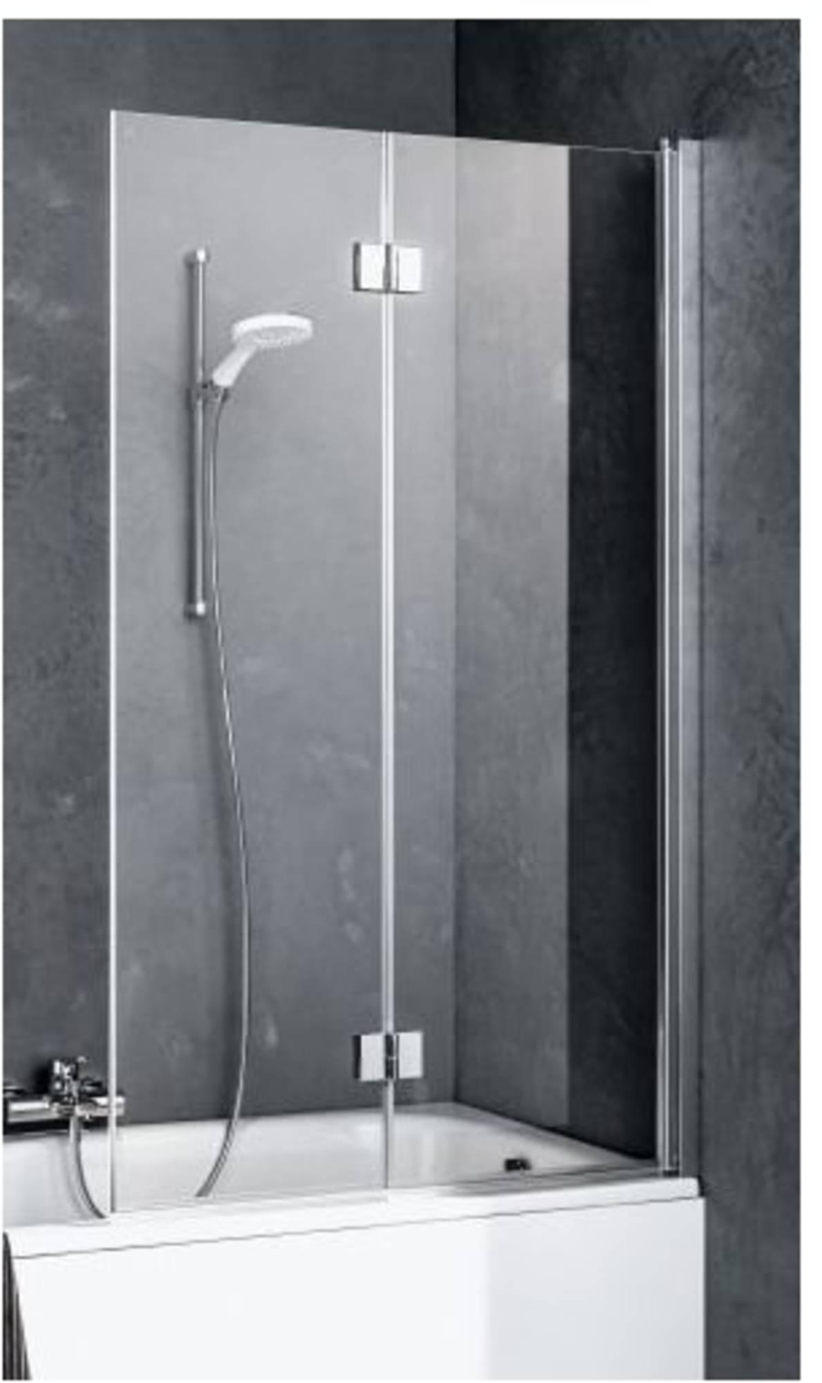 Kermi Liga 2-deligebadvouwwand rechts 120x160 cm
