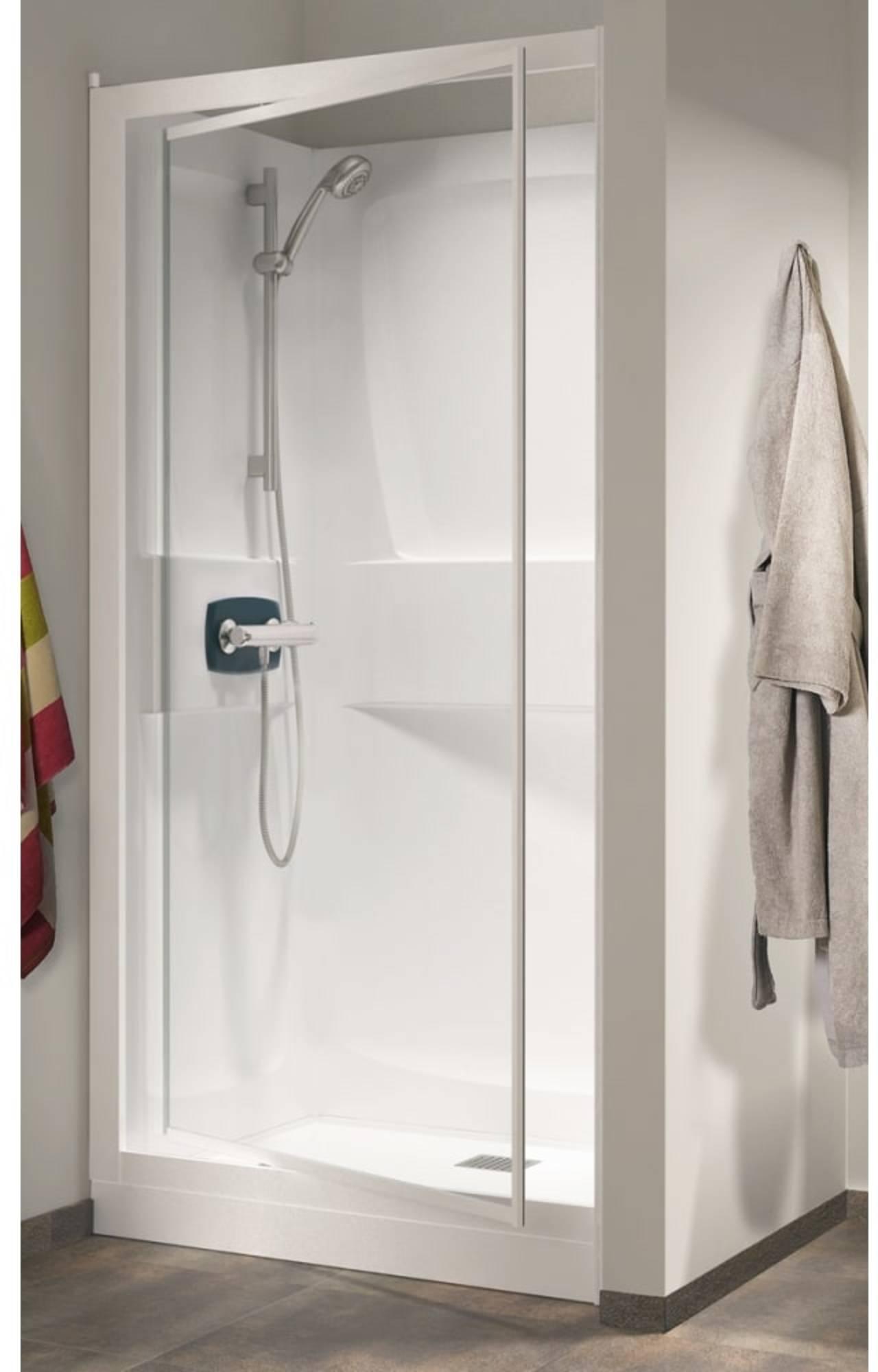 Productafbeelding van Kinedo Kineprime nis cabine 90x90 draaid+thermostaat Douchebak 18cm