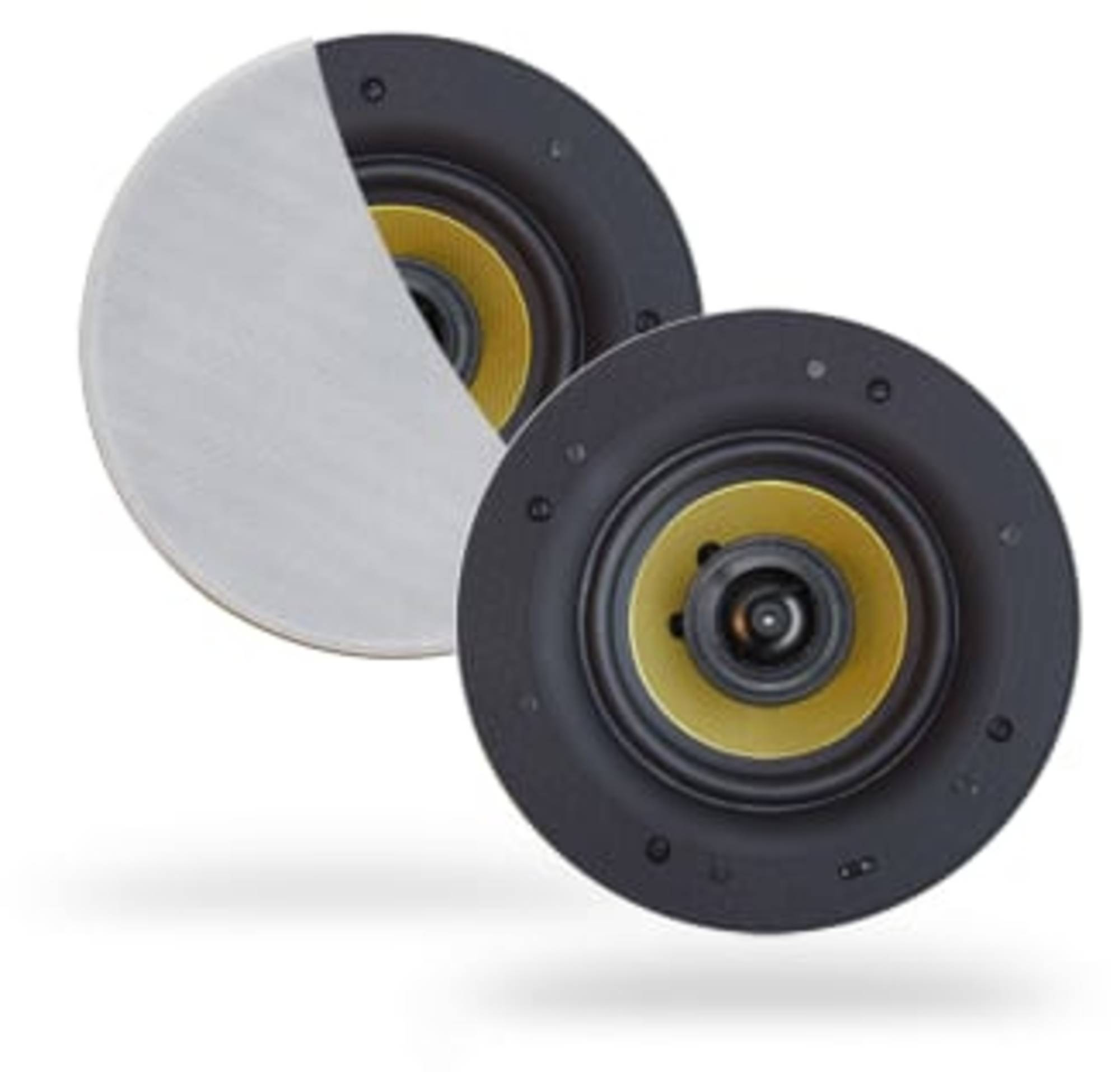 Aquasound Speakerset 12x5,5 cm 20W Wit