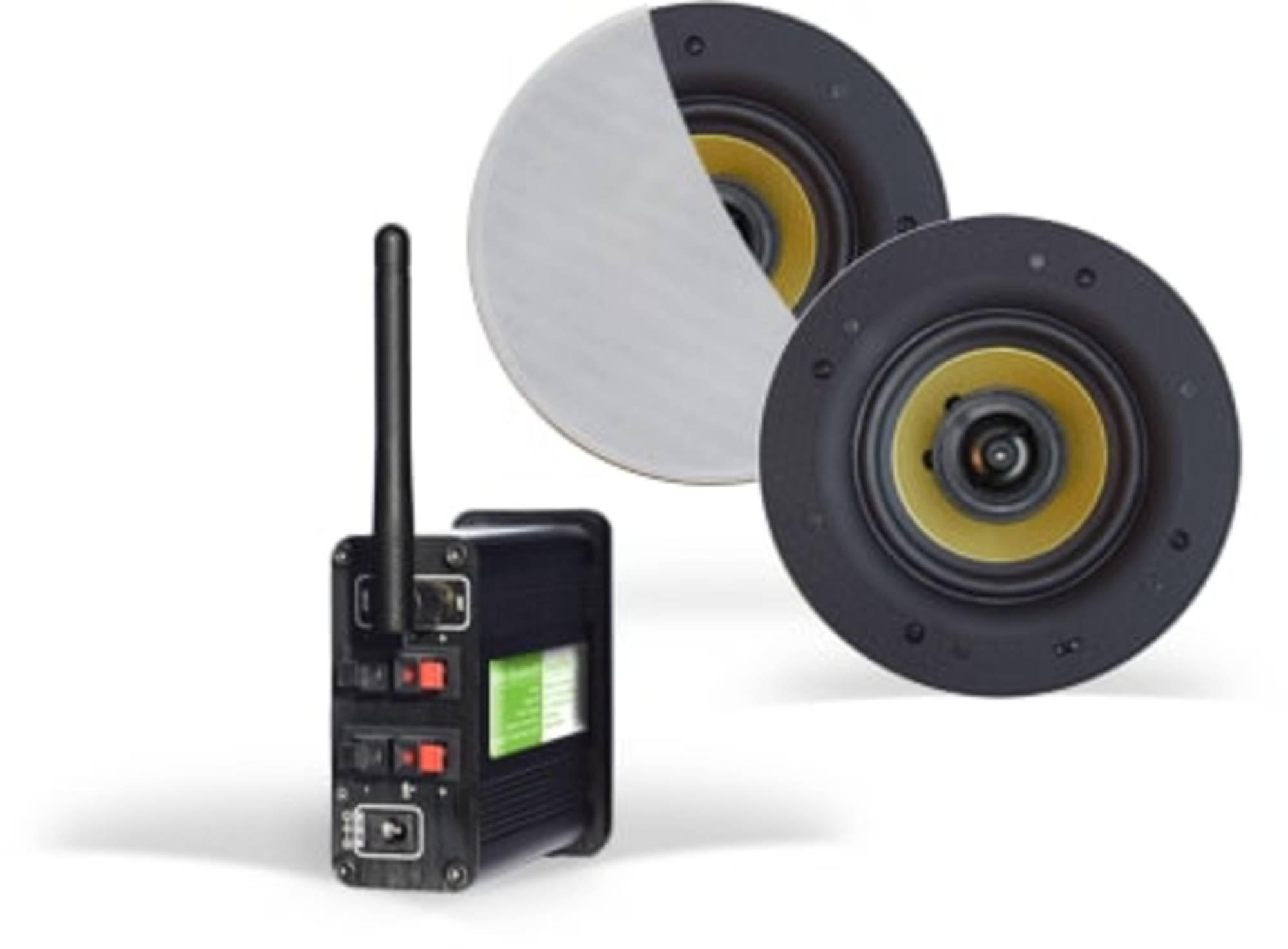 Aquasound Bluetooth 4.0 Versterker met Coco Speakers 30W Wit