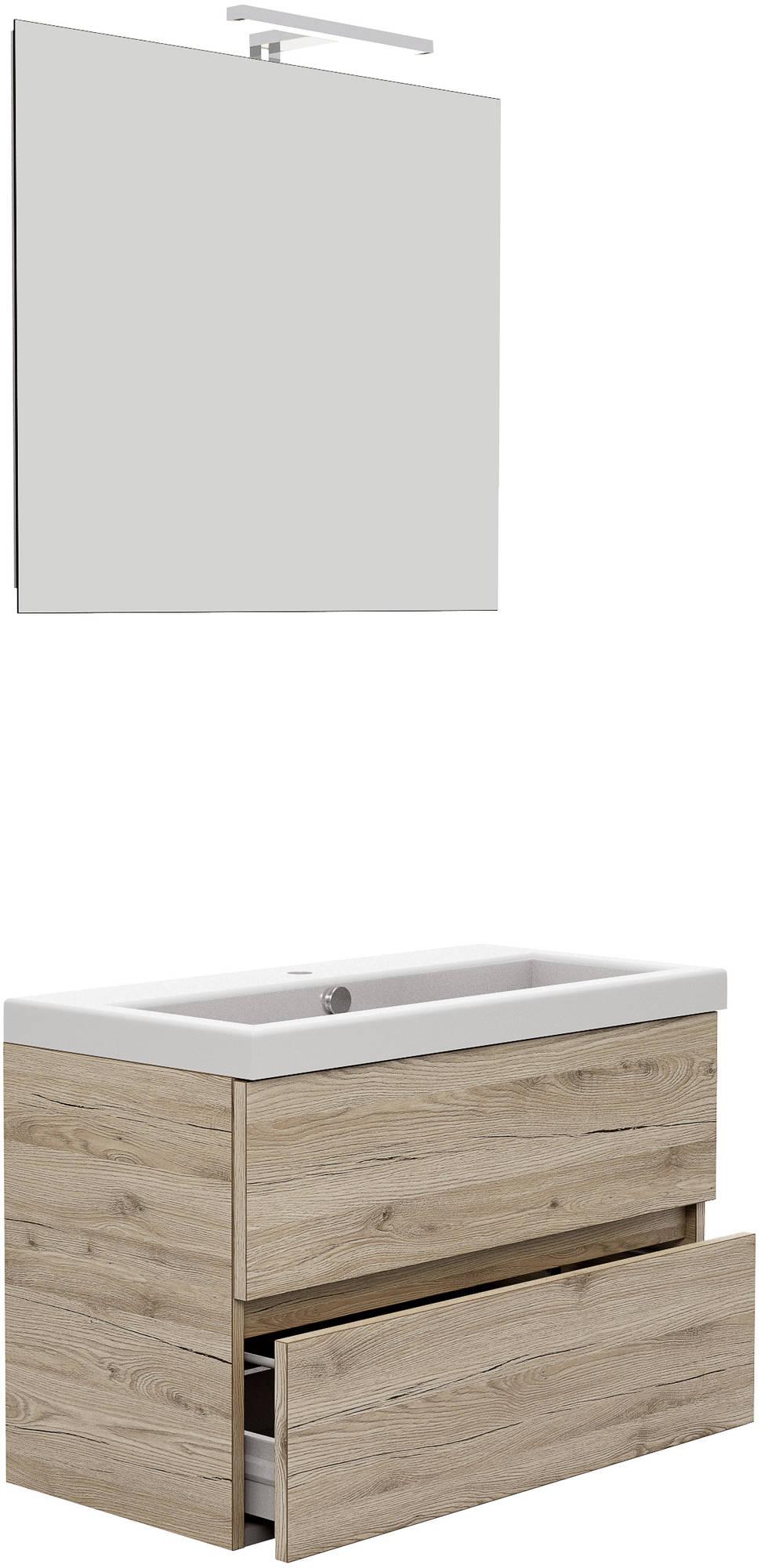 Primabad Get Up Badkamermeubelset 80x40 cm  Hoogglans Wit