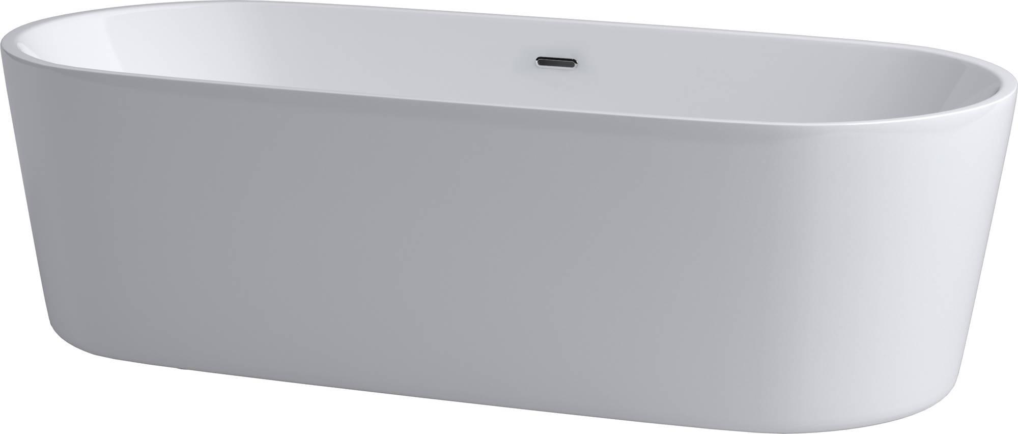 InBe by Clou vrijstaand ligbad 178x80 cm geïntegreerde overloop wit