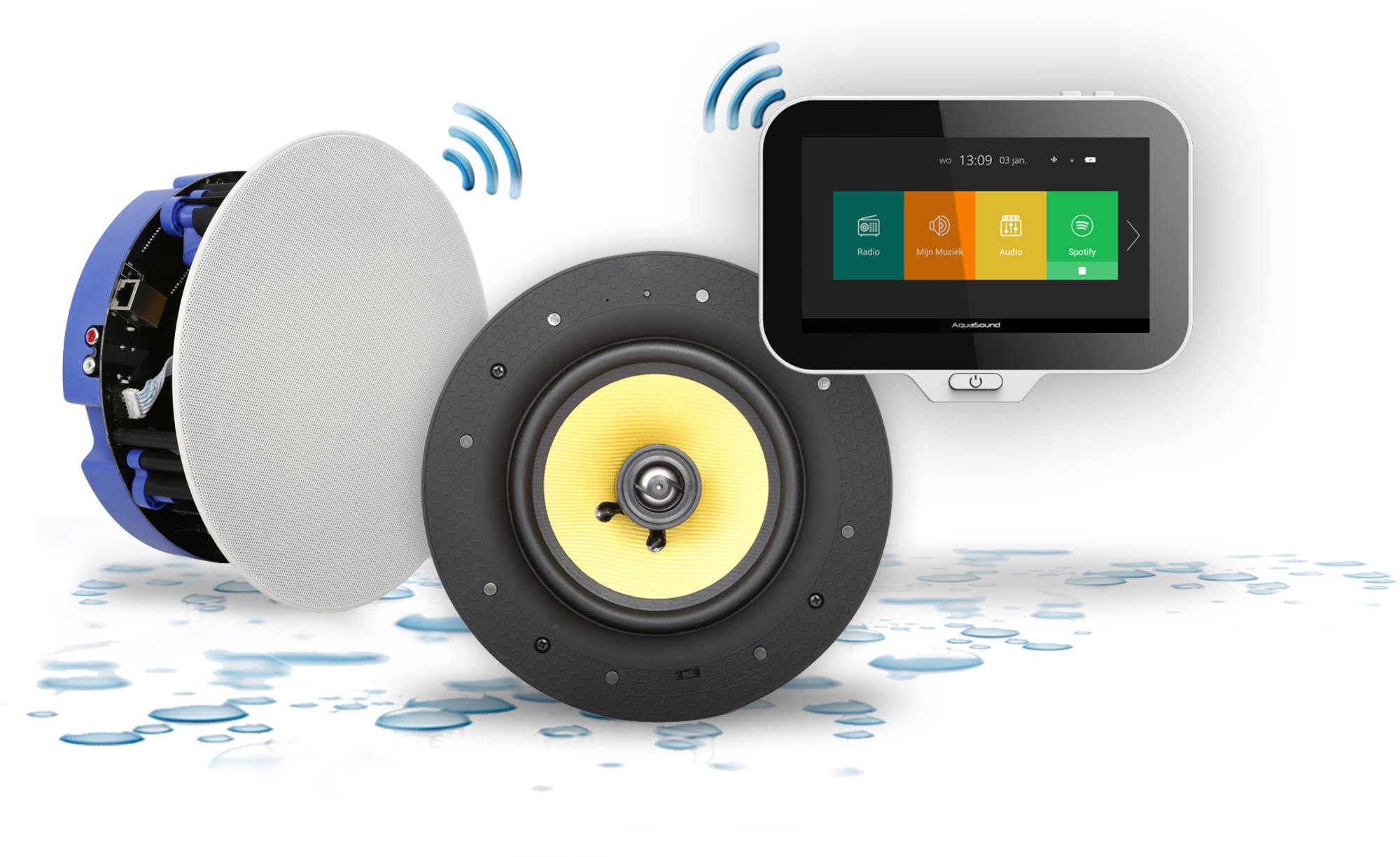 Aquasound N-Joy Music Center met 2 Speakers