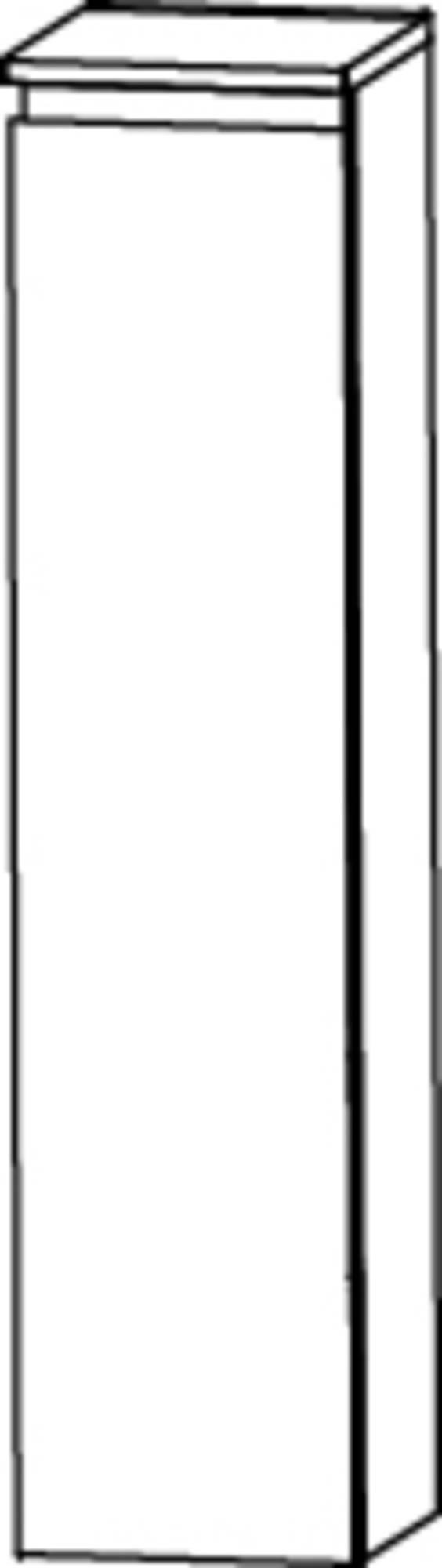 Saqu Pekka 3 Midikast rechts 30x32,5x113,6 cm Eiken Charleston