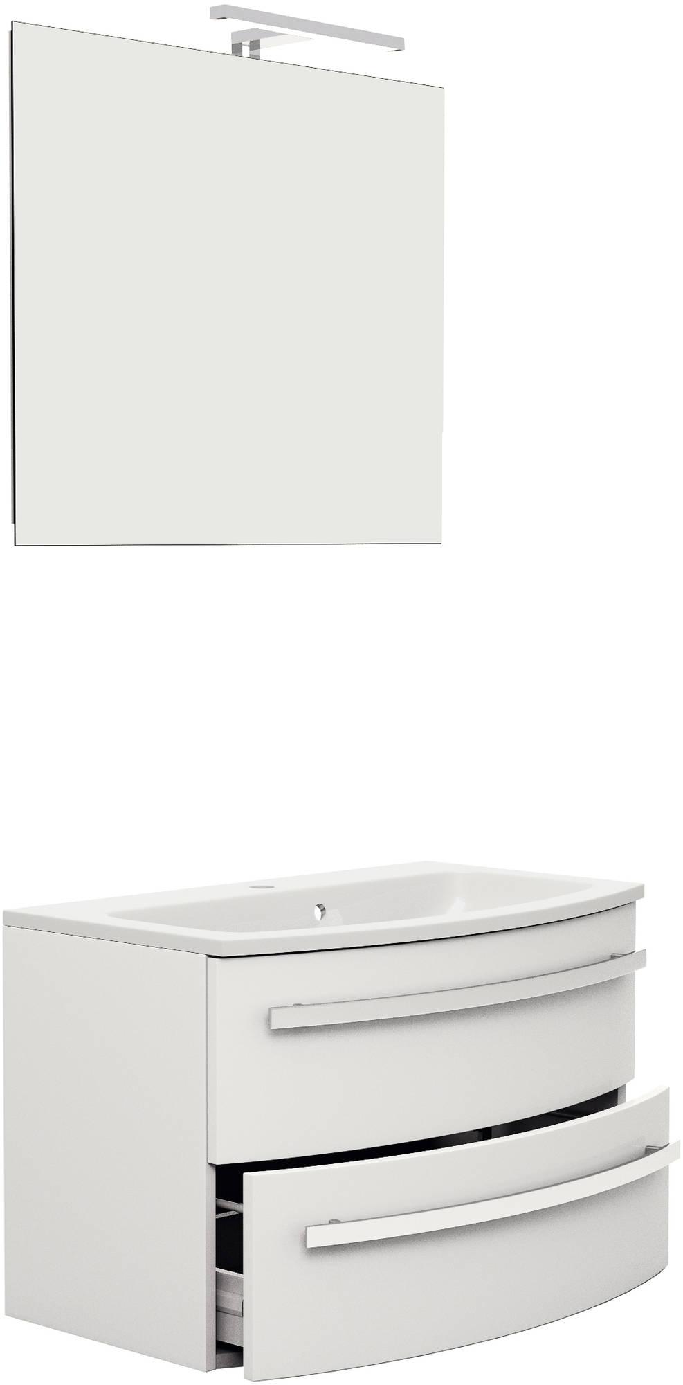 Primabad Rondolijn Badkamermeubelset 80x48 cm  Wit