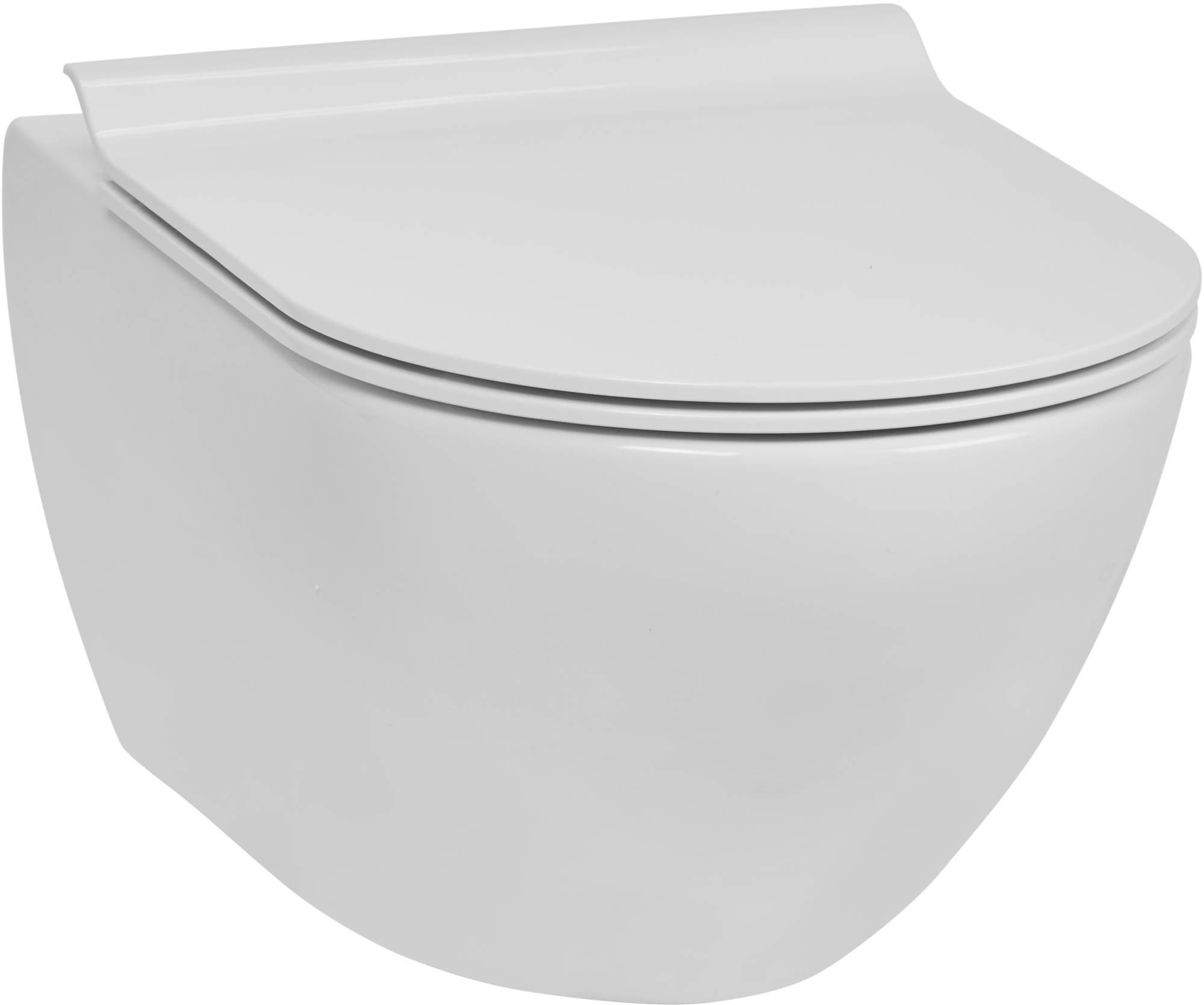 Productafbeelding van Ben Segno hangtoilet met toiletbril slimseat Xtra glaze+ Free flush wit