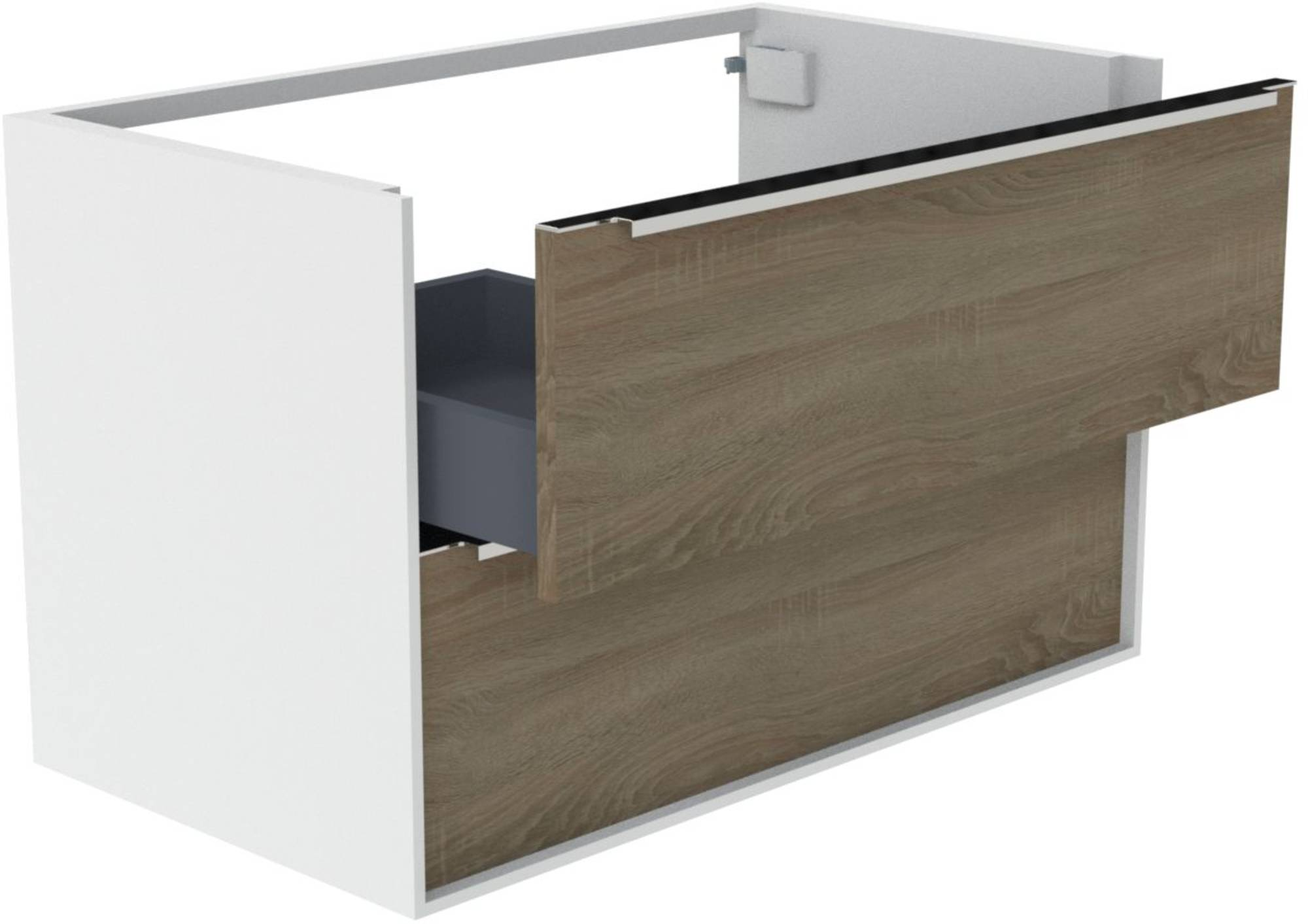 Thebalux Sense Wastafelonderkast 82x44,5x50 cm Nebraska Eiken