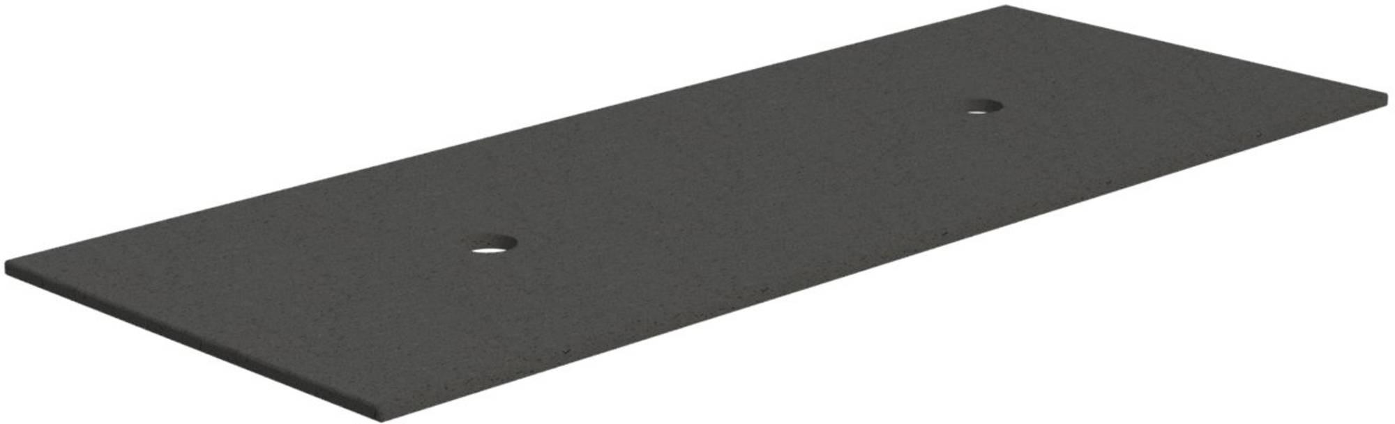 Thebalux Afdekblad Composiet 122x48,5x1,3 cm Cement Grey Grain
