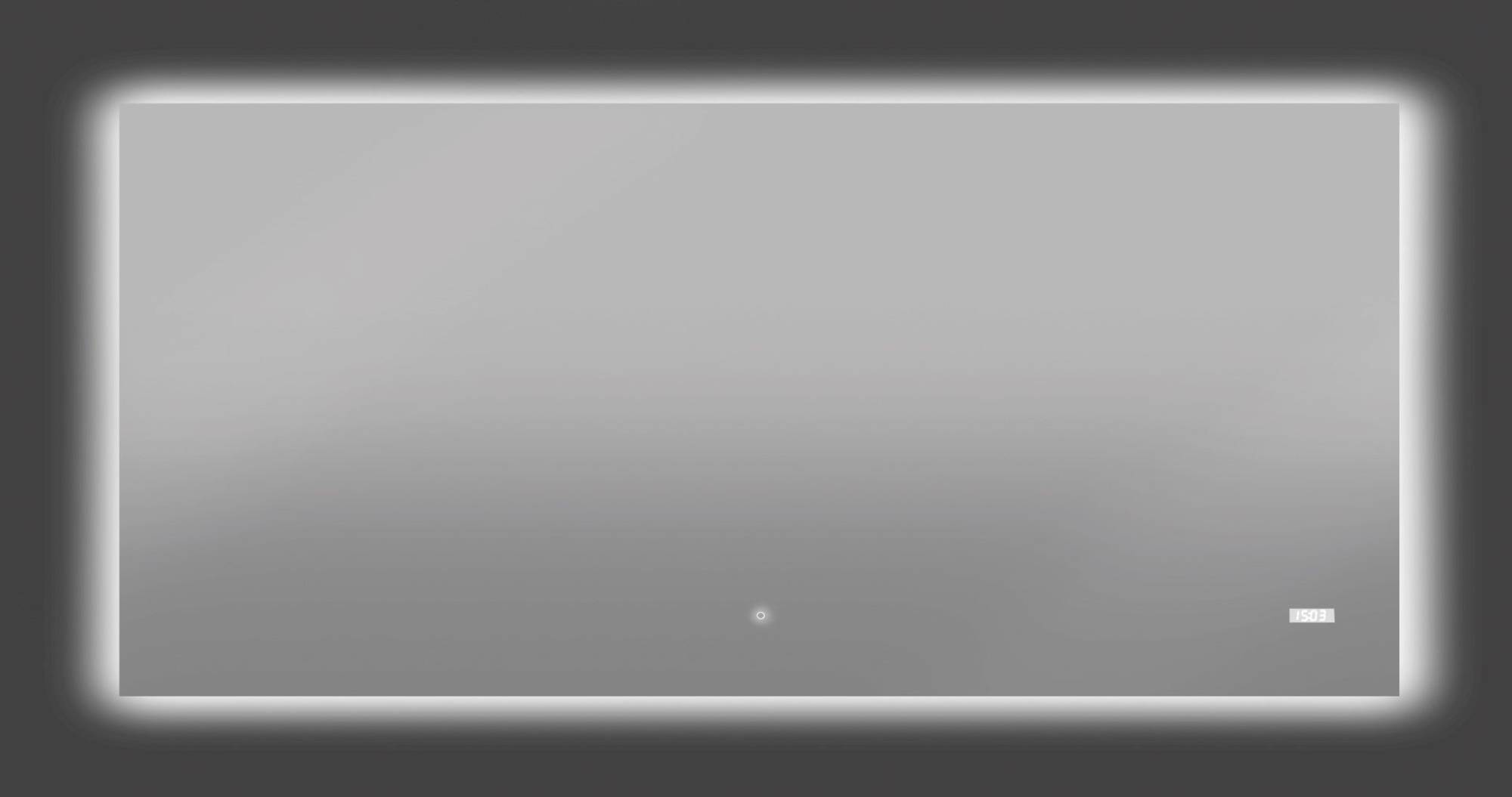 Thebalux Time LED spiegel 140x70x3,5 cm Alu frame