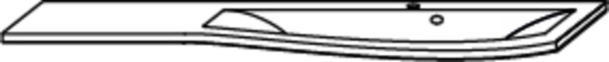 Saqu Curve 3 Meubelwastafel links 121,2x51,7x2,8 cm Wit